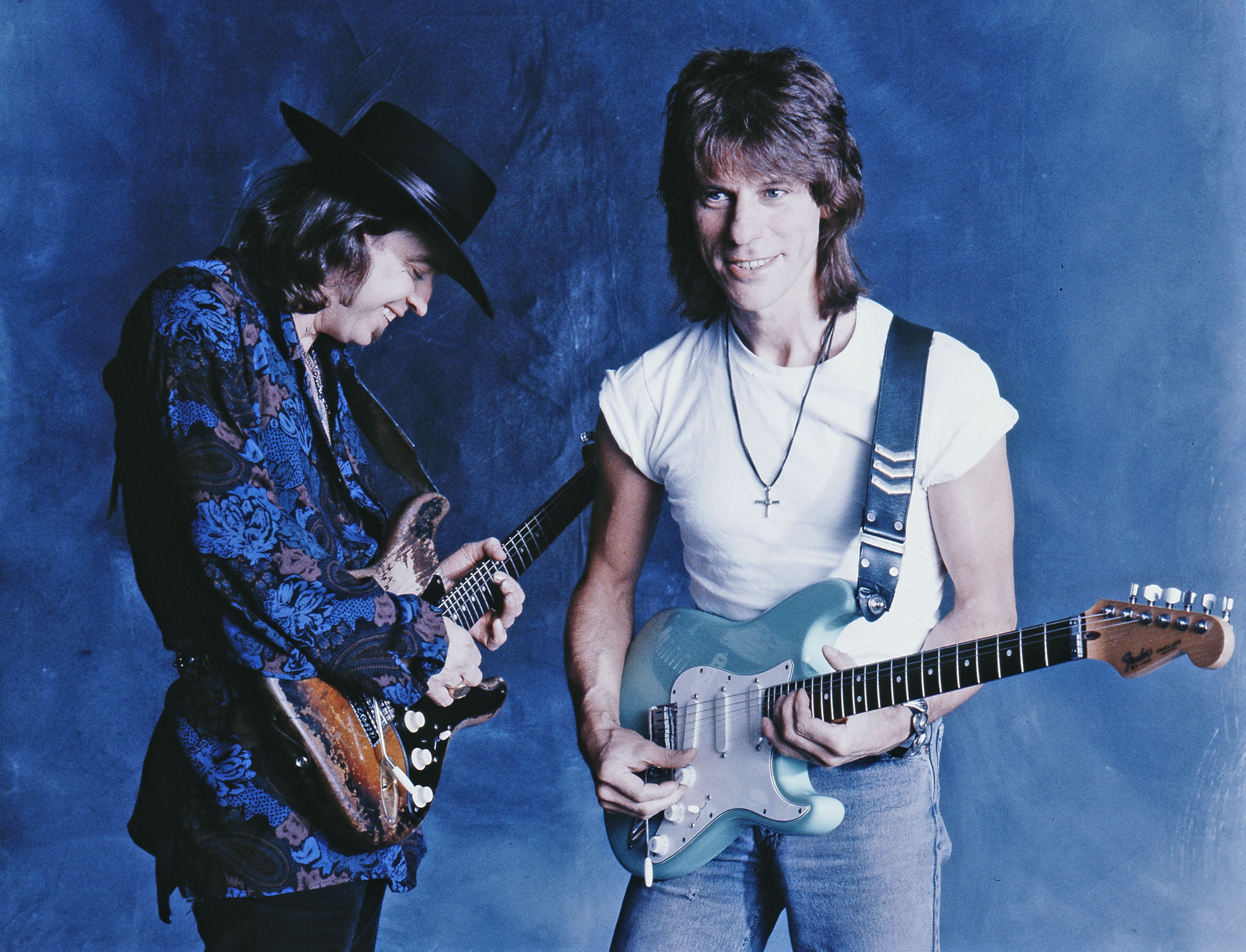 Stevie Ray Vaughn and Jeff Beck Portrait Session 1980