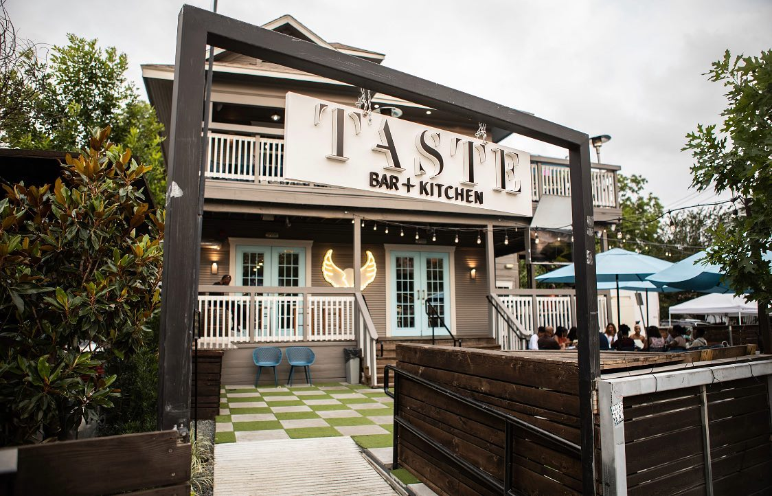 the patio at Taste Bar and Kitchen