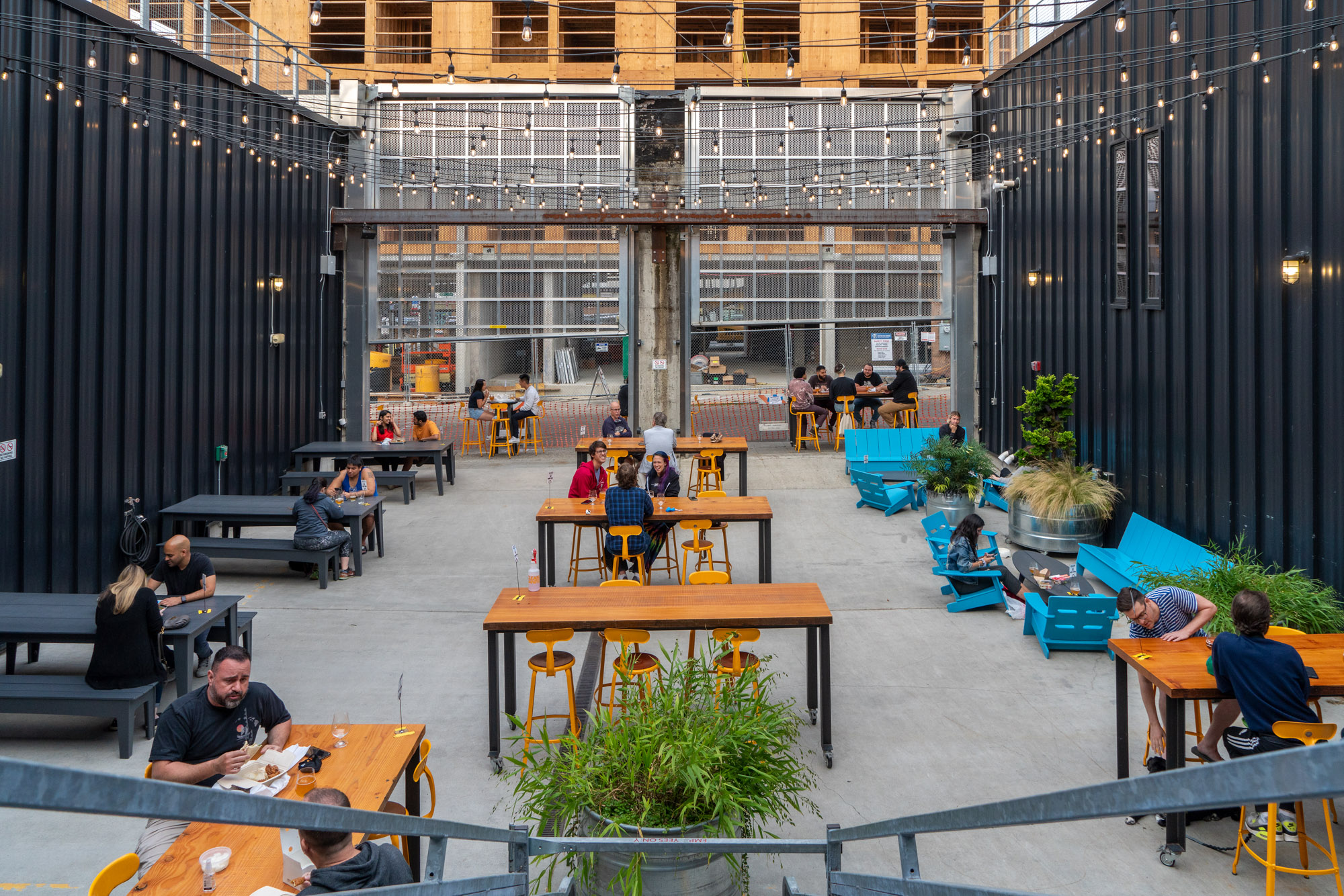 The outdoor patio at Optimism Brewing on Capitol Hill
