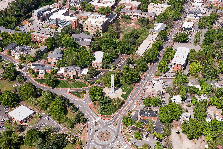 North Carolina State University Campus Aerial View