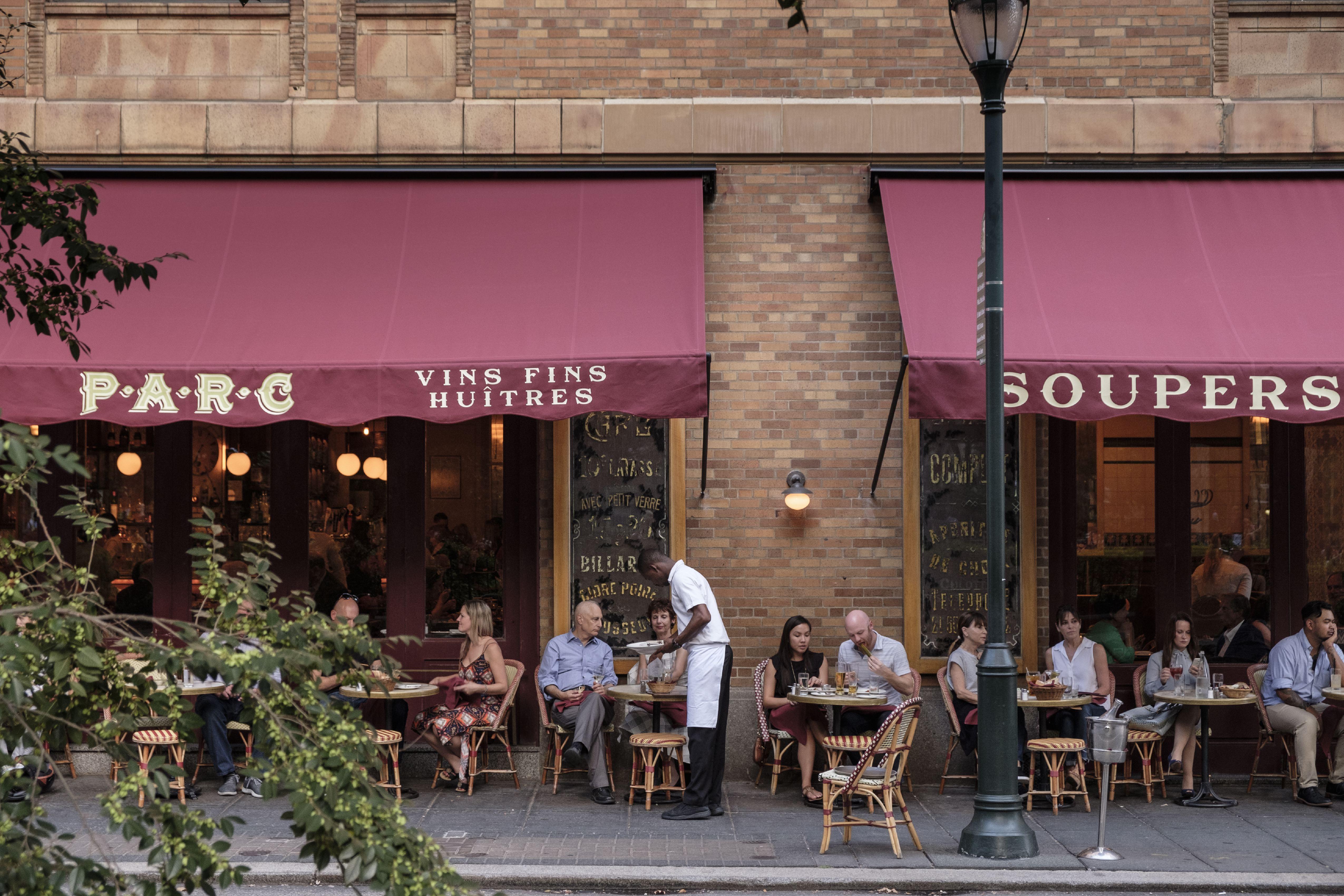 Sidewalk cafe of Parc Restaurant
