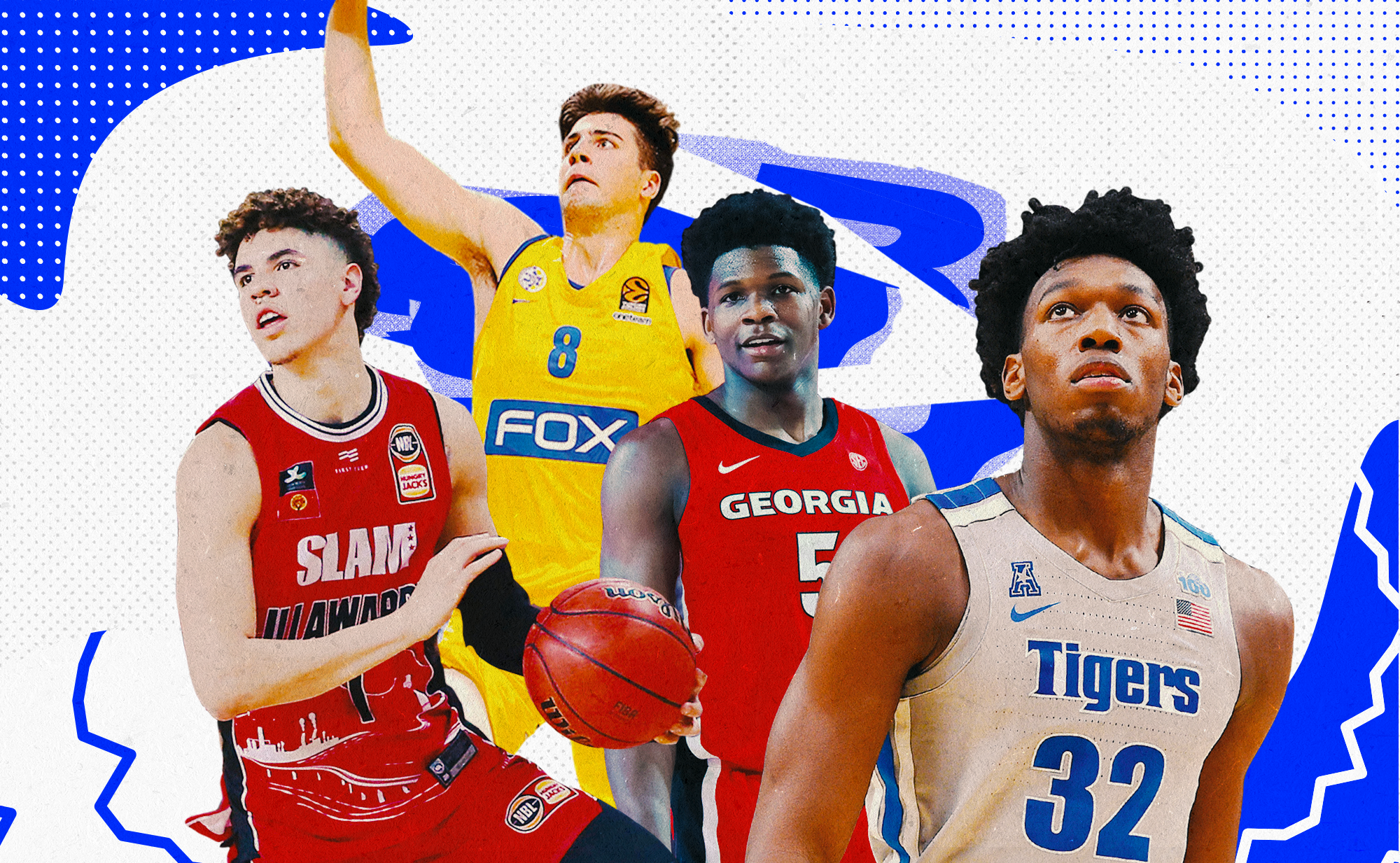 LaMelo Ball, Deni Avdija, Anthony Edwards, and James Wiseman (from left to right)
