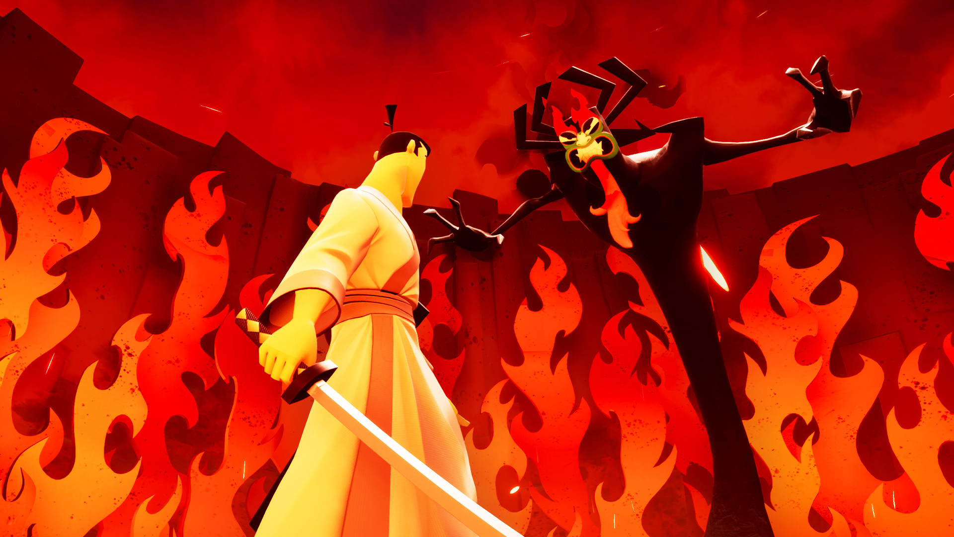 samurai jack faces aku in Battle Through Time