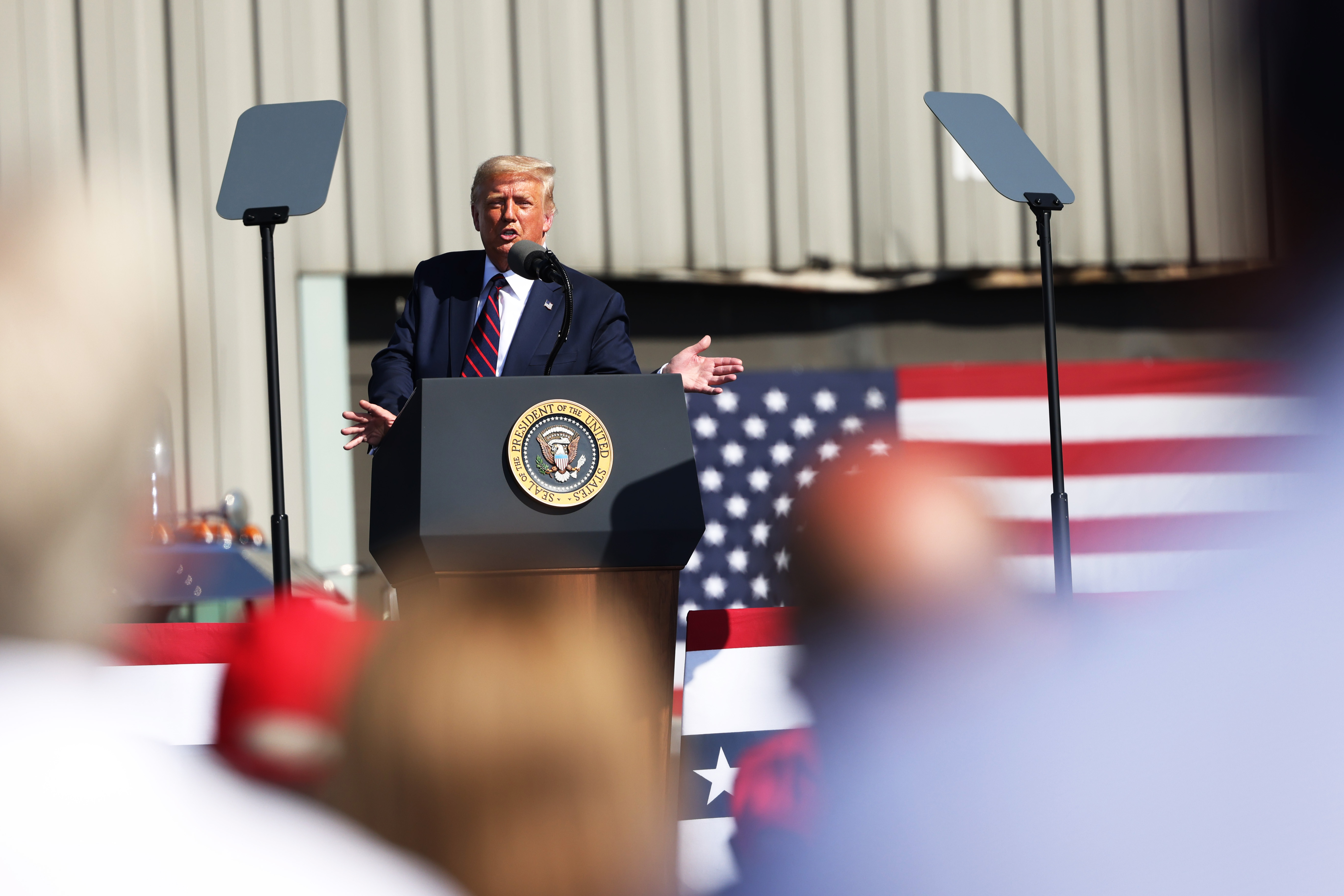 Donald Trump Holds Campaign Event At Pennsylvania Manufacturer