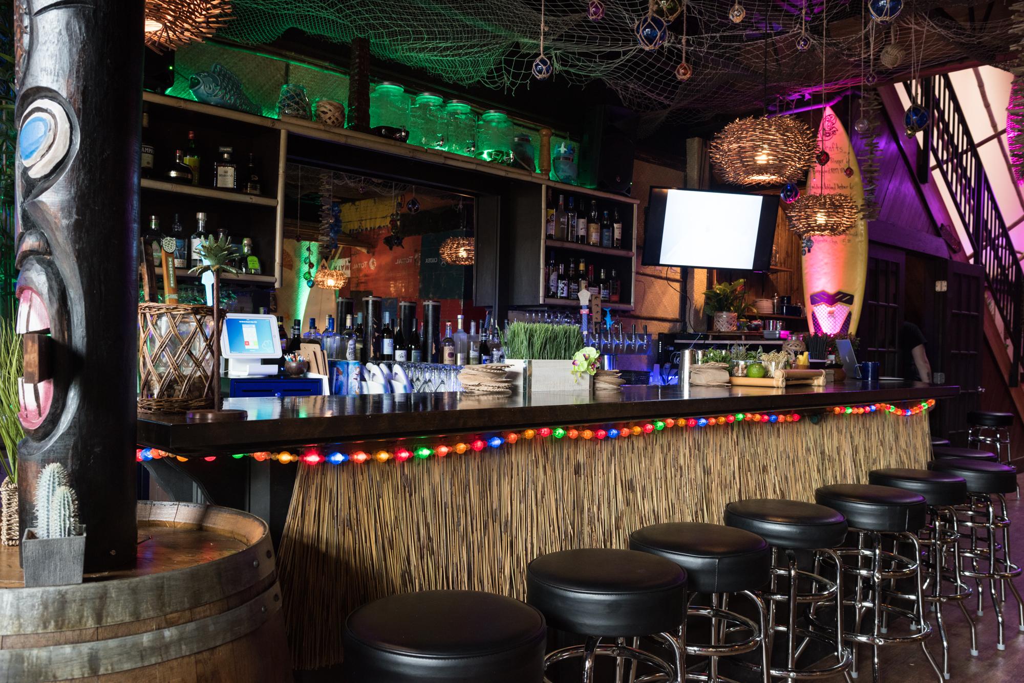 A photo of the bar at No Bones Beach Club