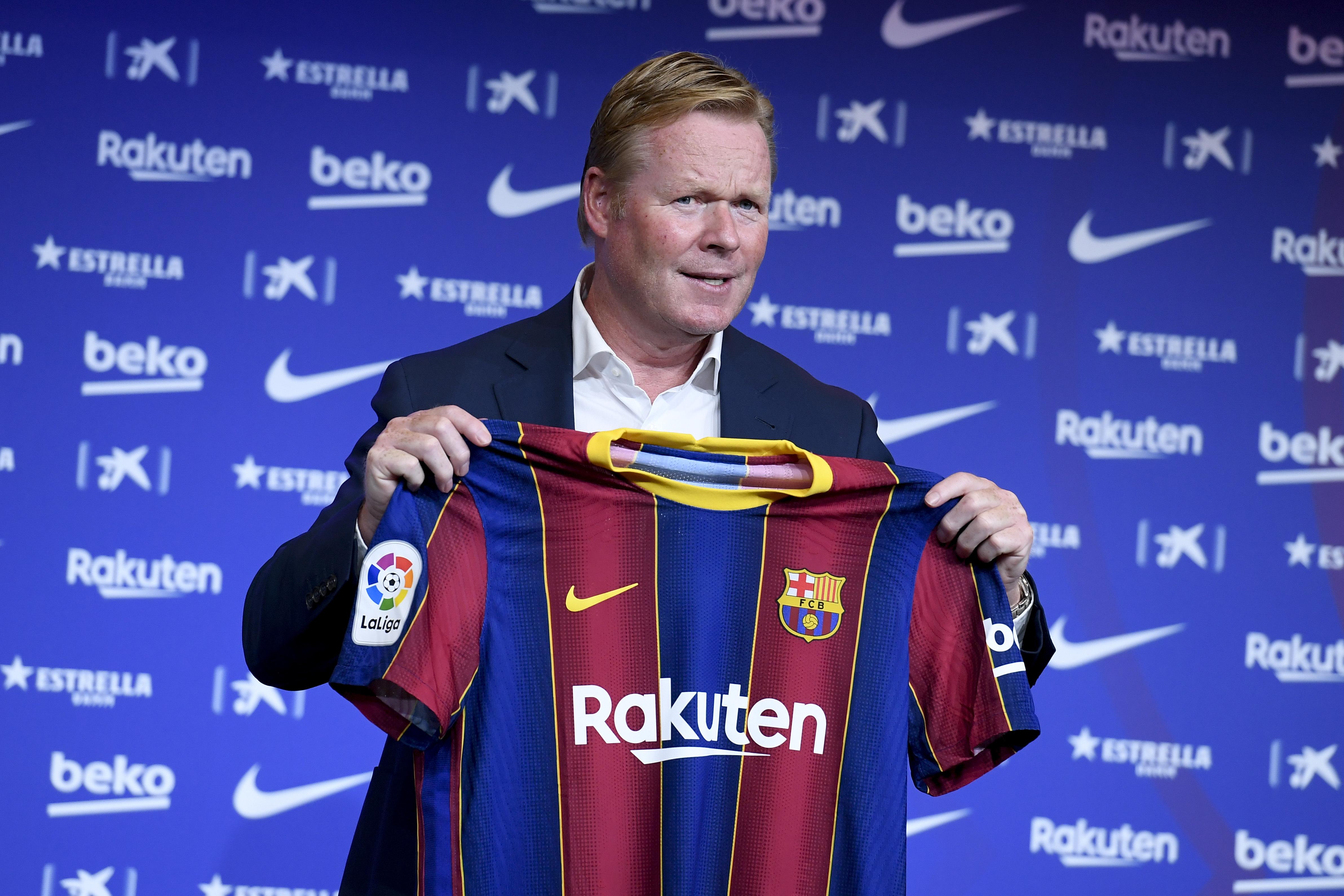 Barcelona FC presents Ronald Koeman as new head coach