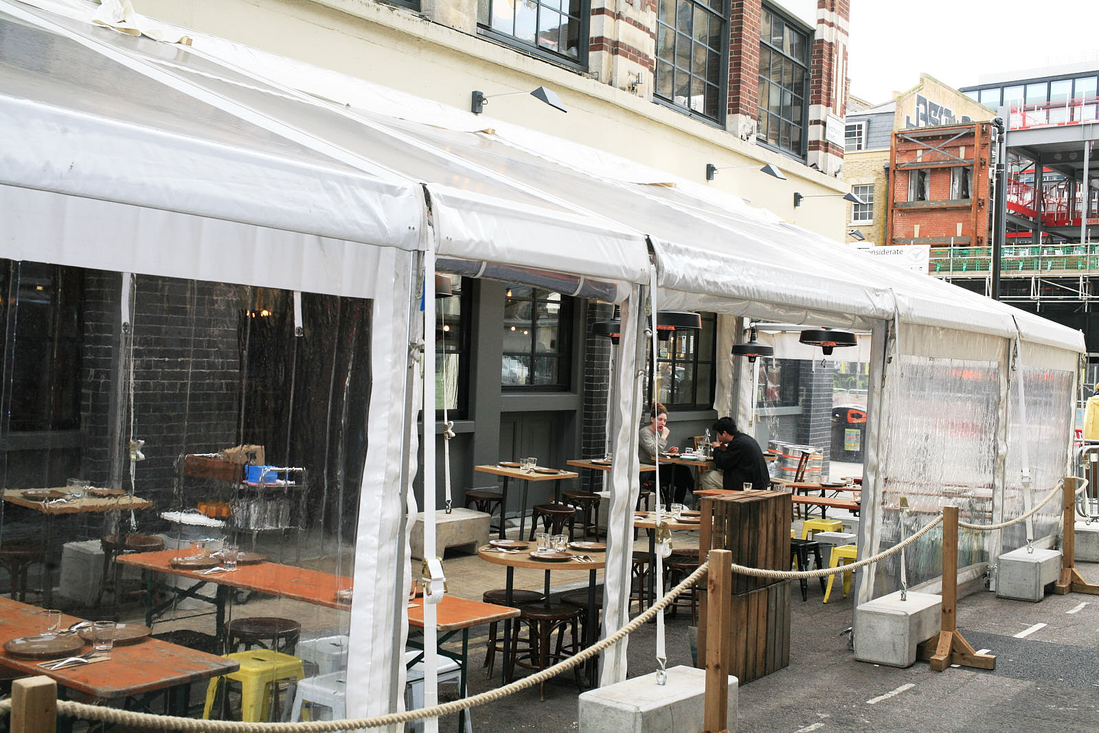 Smoking Goat on Redchurch Street in Shoreditch, with a new covered outside seating area — one of London's best Thai restaurants