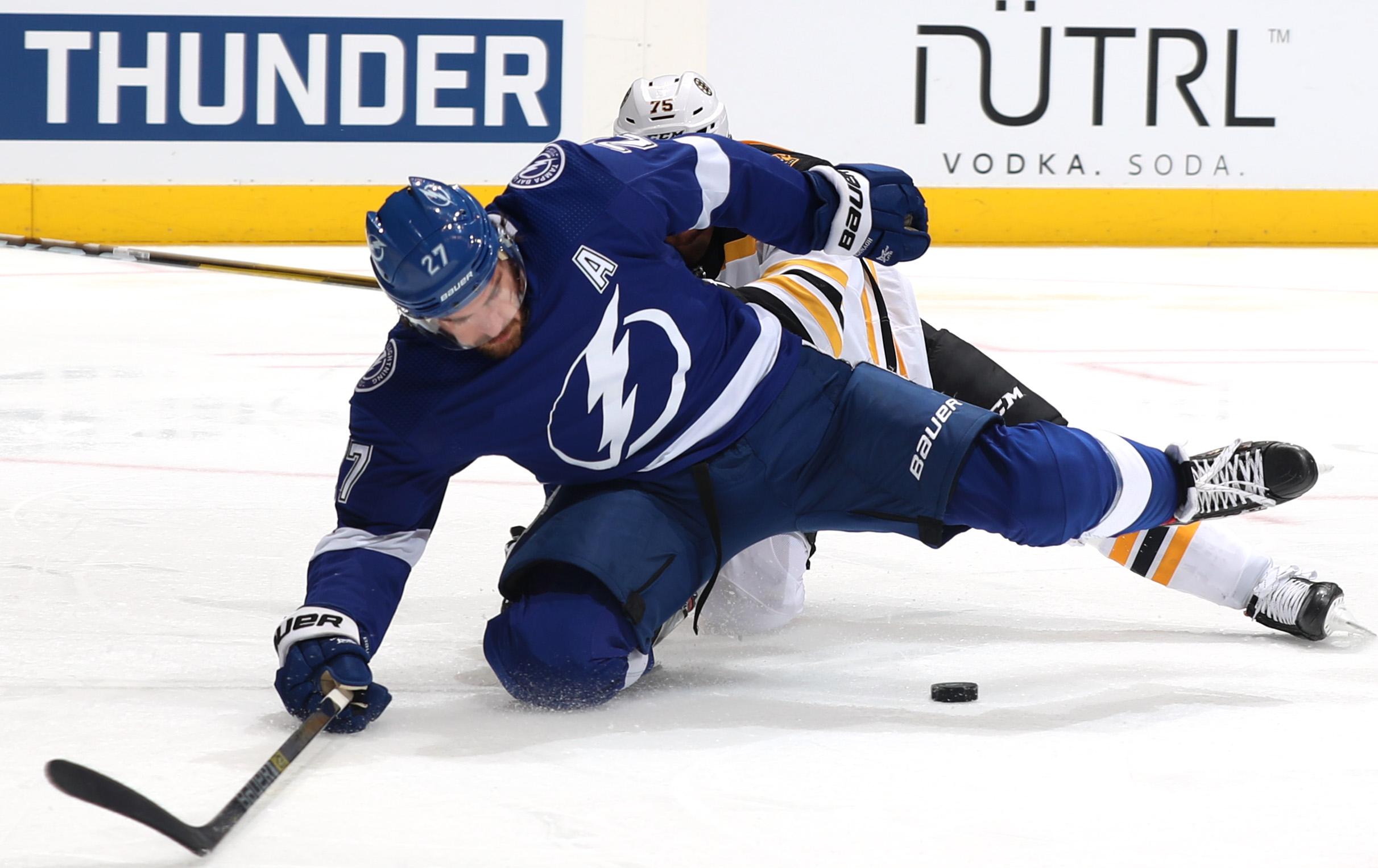 Boston Bruins v Tampa Bay Lightning - Game One