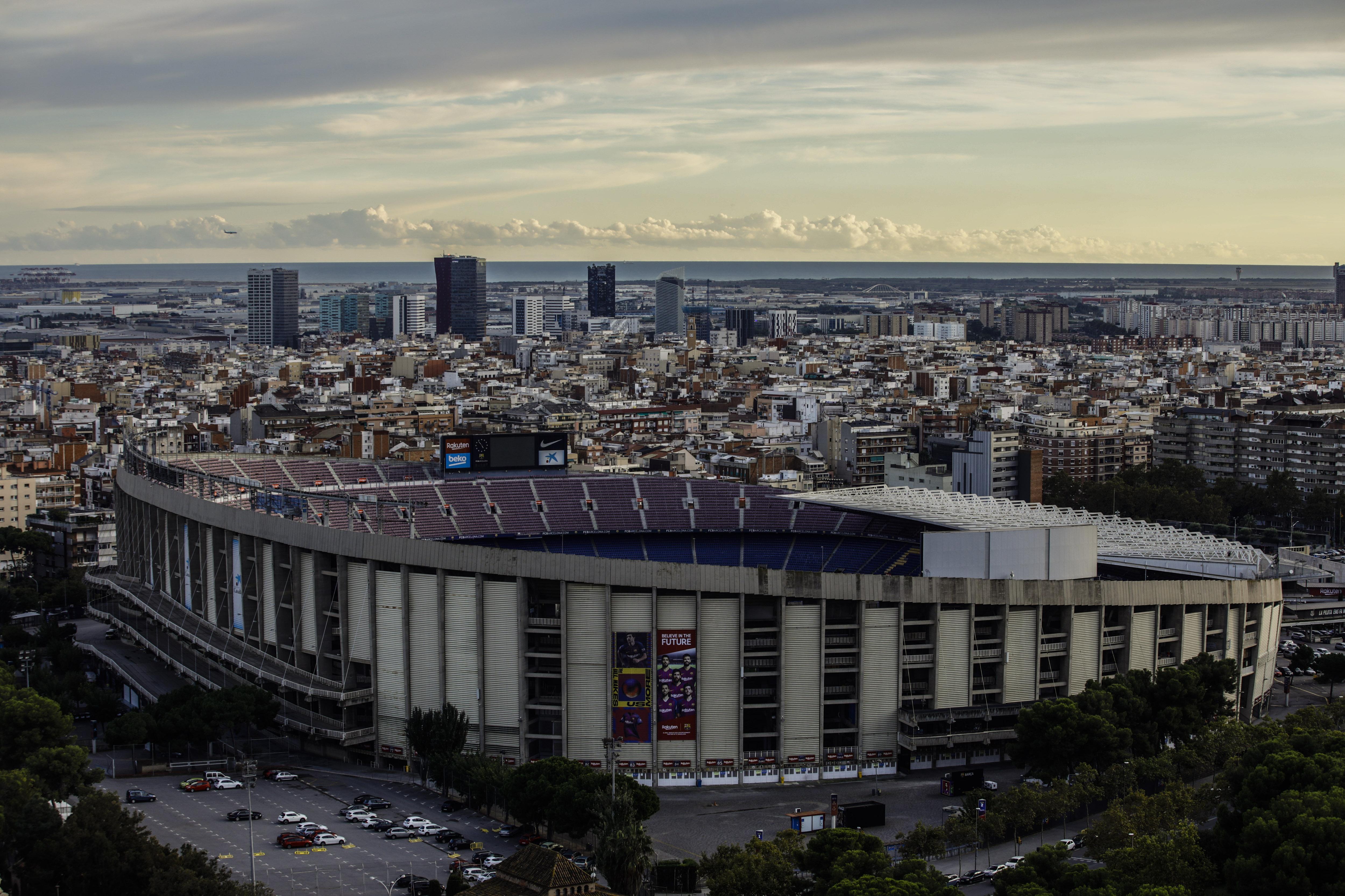 巴塞罗那的诺坎普球场