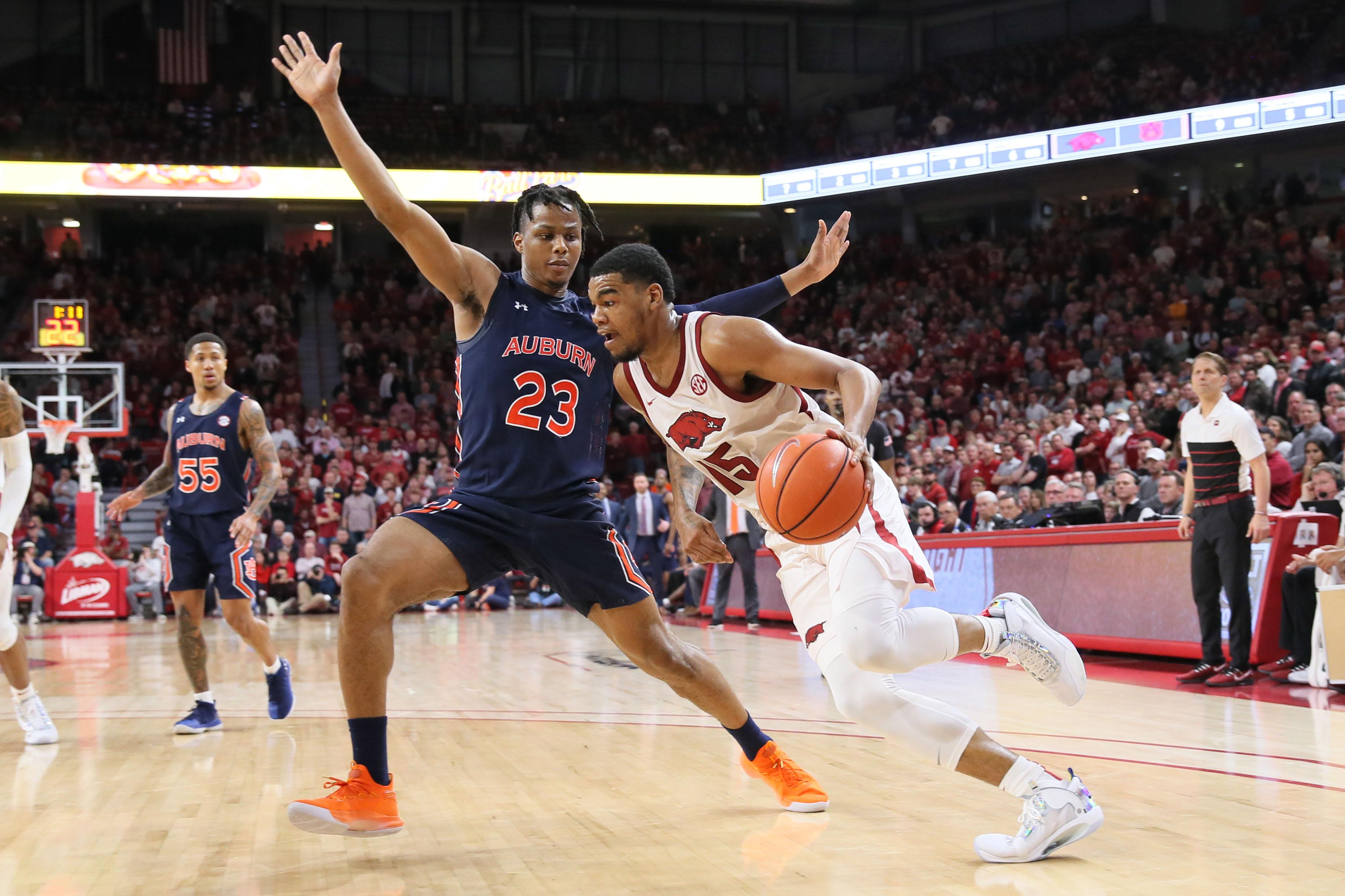 NCAA Basketball: Auburn at Arkansas