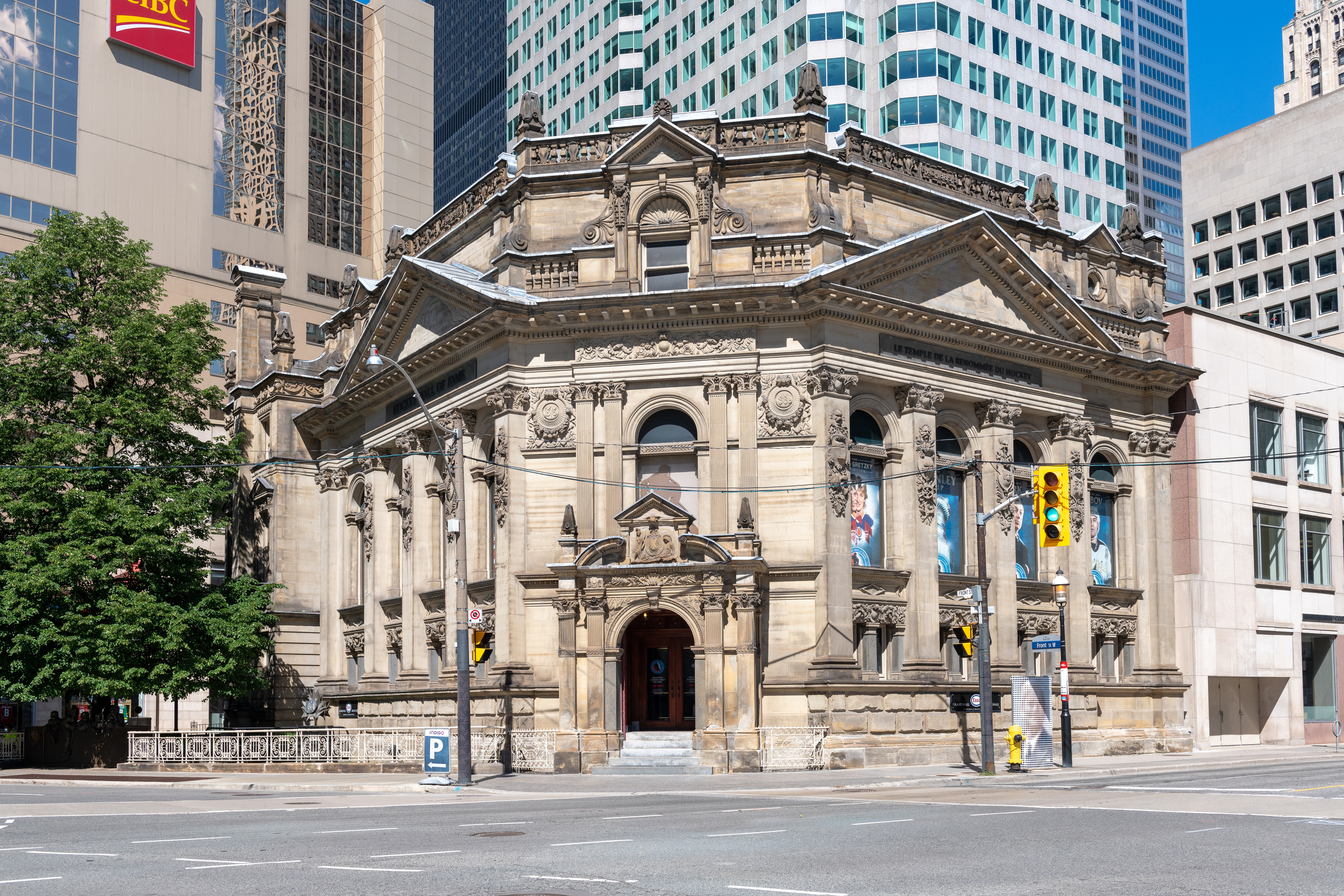 The Hockey Hall of Fame building which is part of the city...