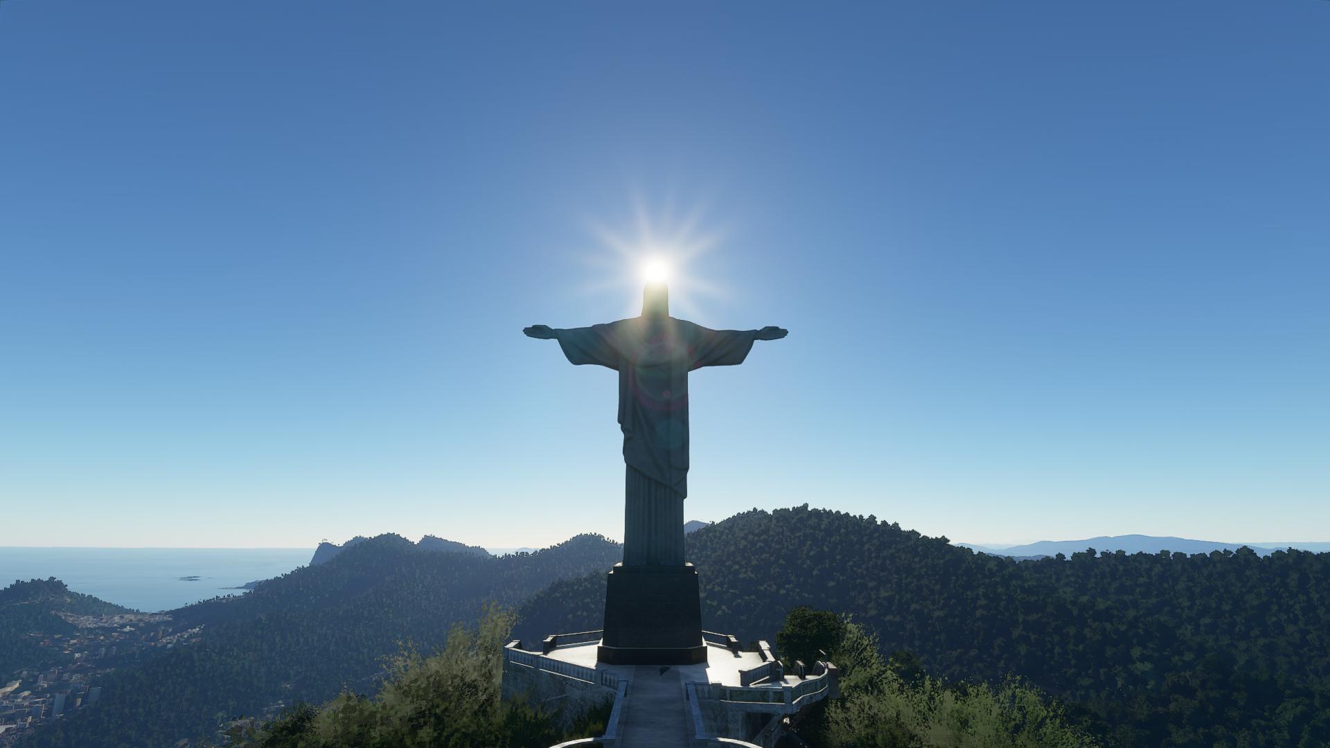 Christ the Redeemer in Microsoft Flight Simulator