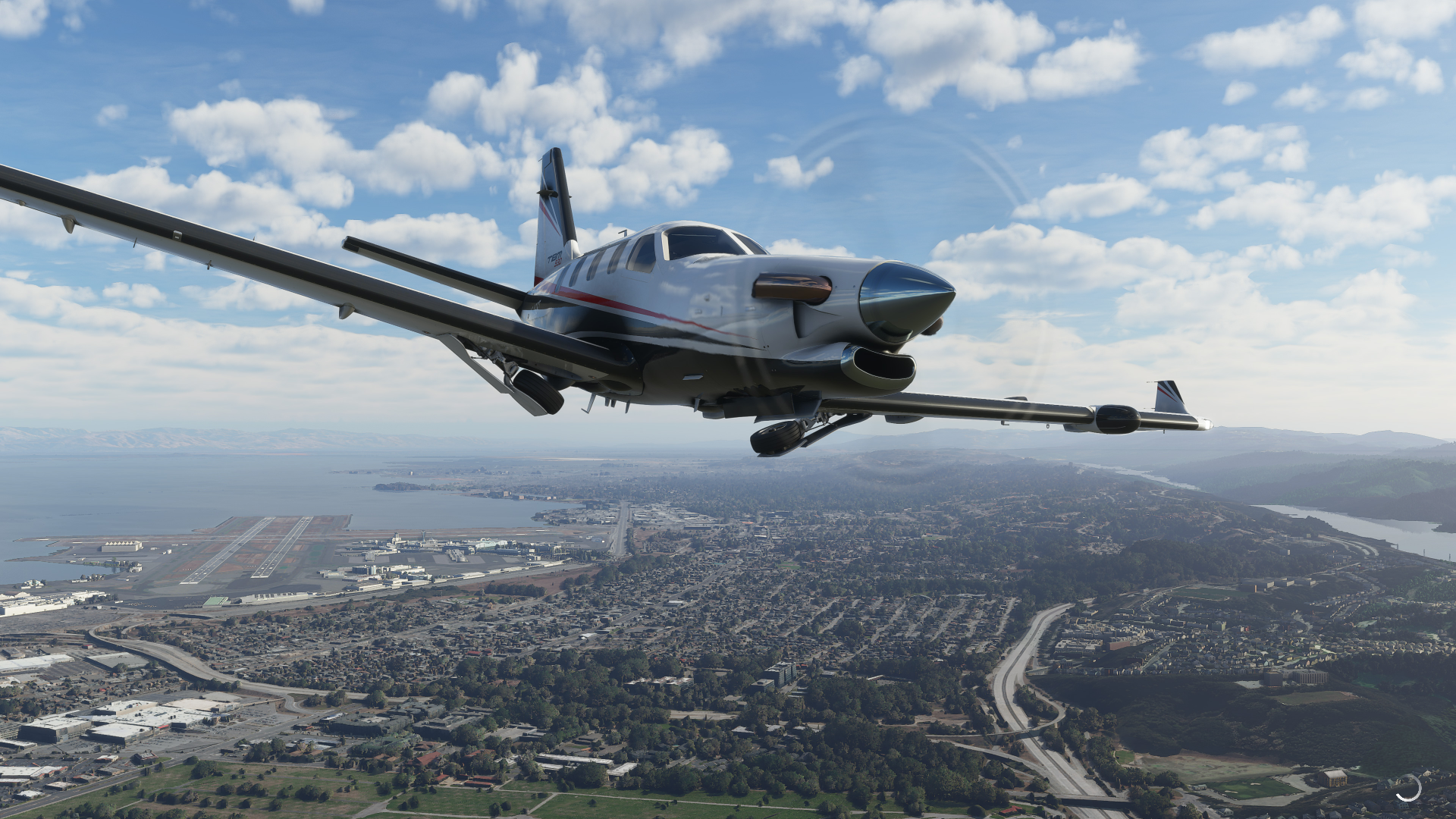 A plane in Microsoft Flight Simulator