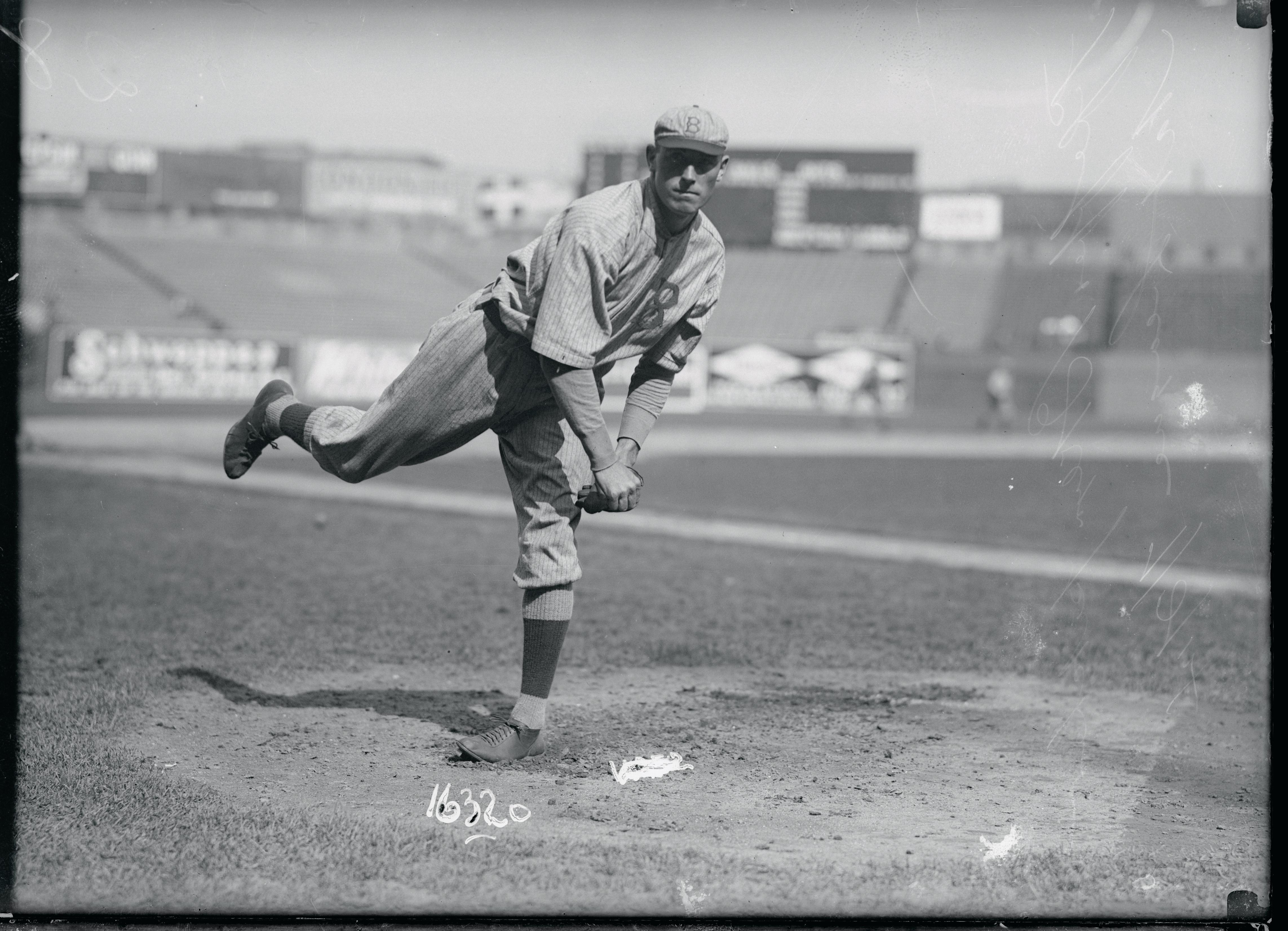 Baseball Player Jeff Pfeffer in Action