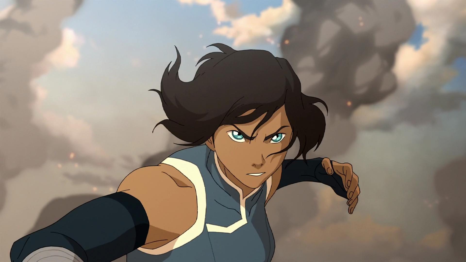 Korra stands in battle stance for Legend of Korra