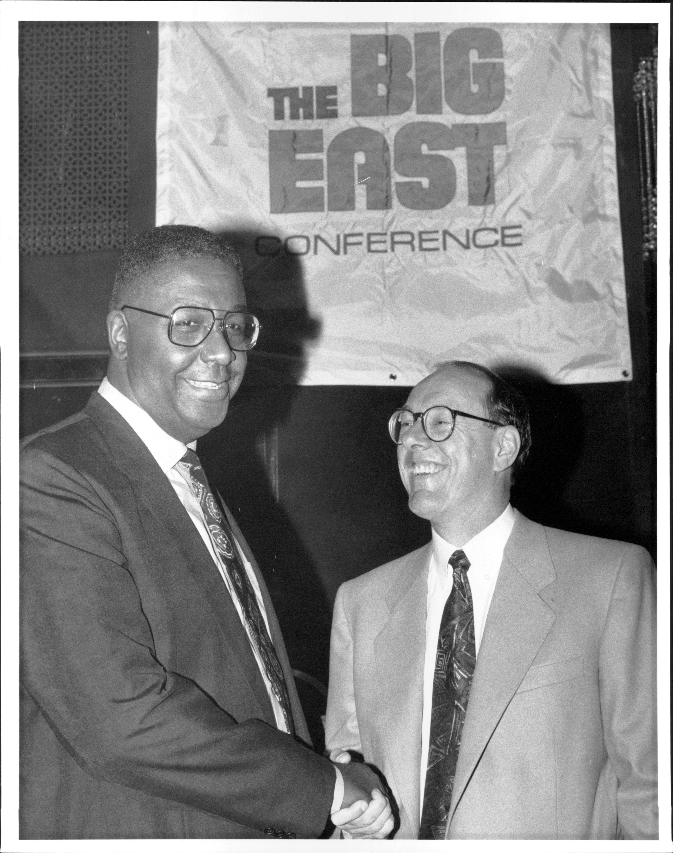 Mens' College Basketball Coaches - Georgetown's John Thompson and Syracruse's Jim Boeheim