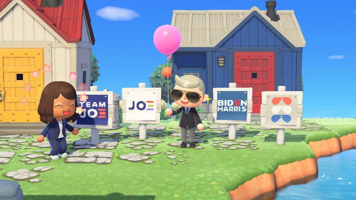 biden and harris's Animal Crossing avatars
