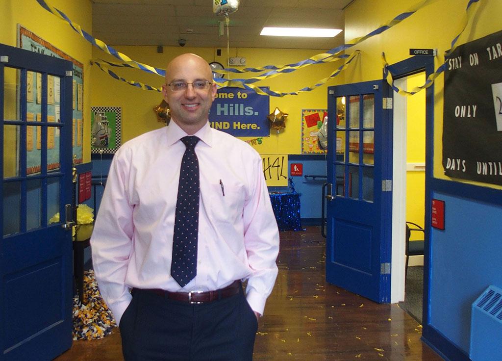 Achievement School District Superintendent Chris Barbic in 2015 at Georgian Hills Elementary School in Memphis.