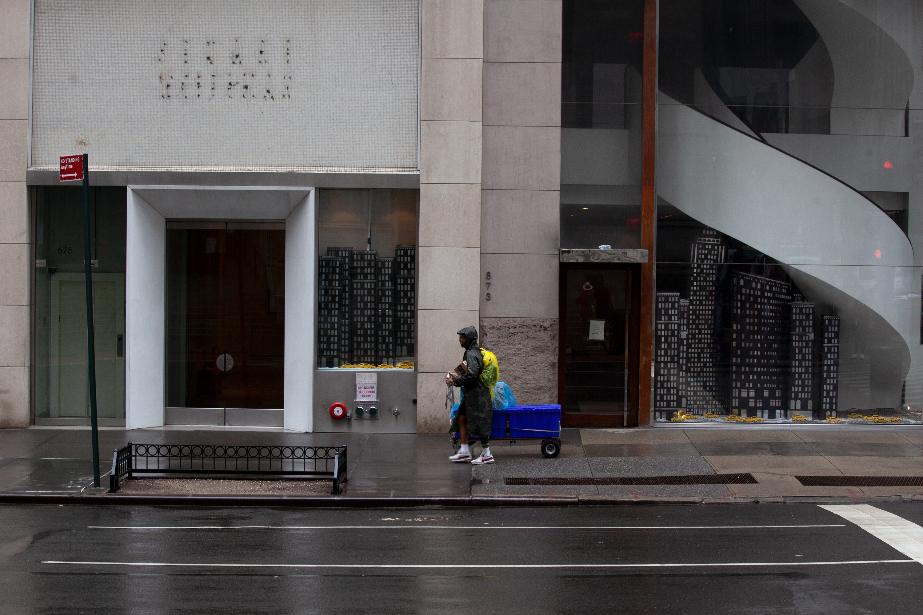 Fifth Avenue in Midtown has seen a loss in foot traffic during the coronavirus outbreak, Sept. 1, 2020.