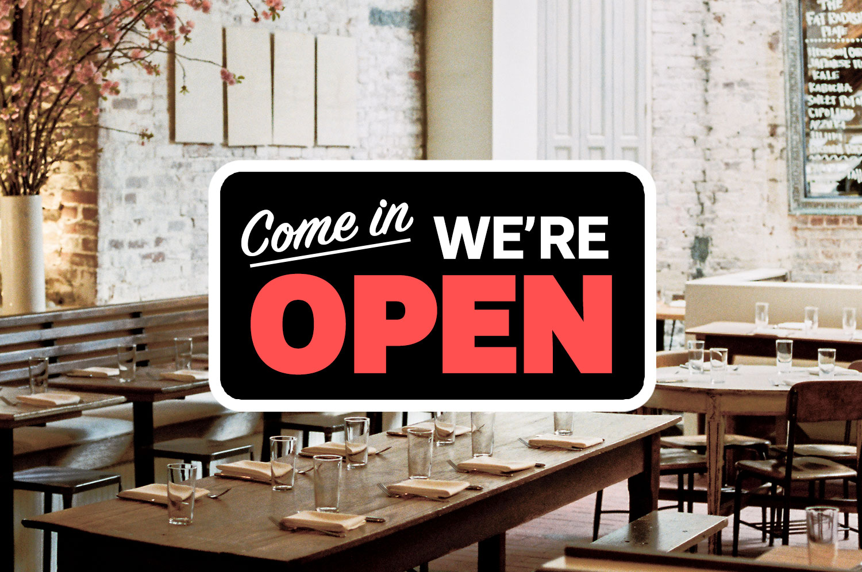 Open restaurant sign