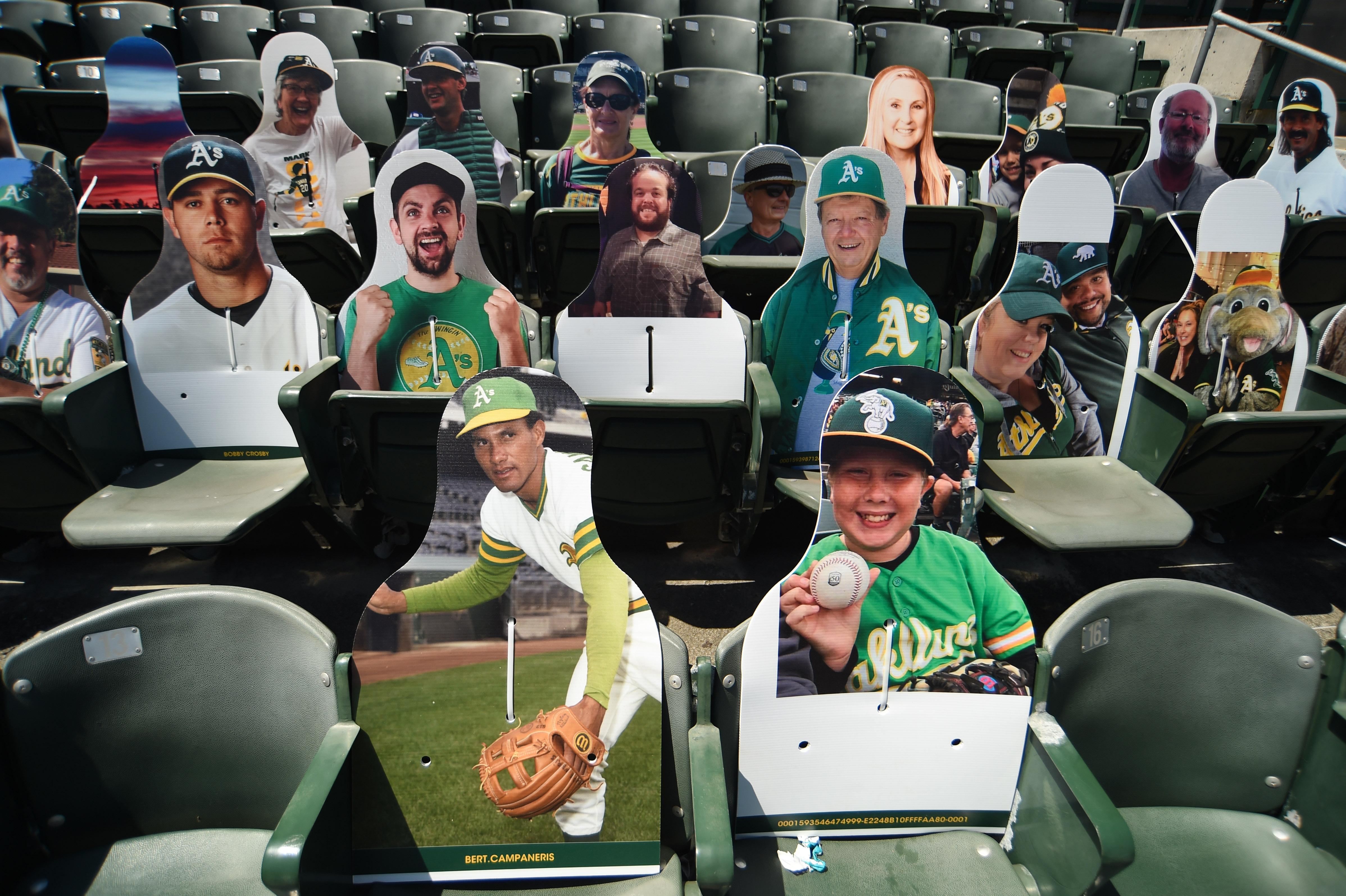 Oakland Athletics fan cutouts