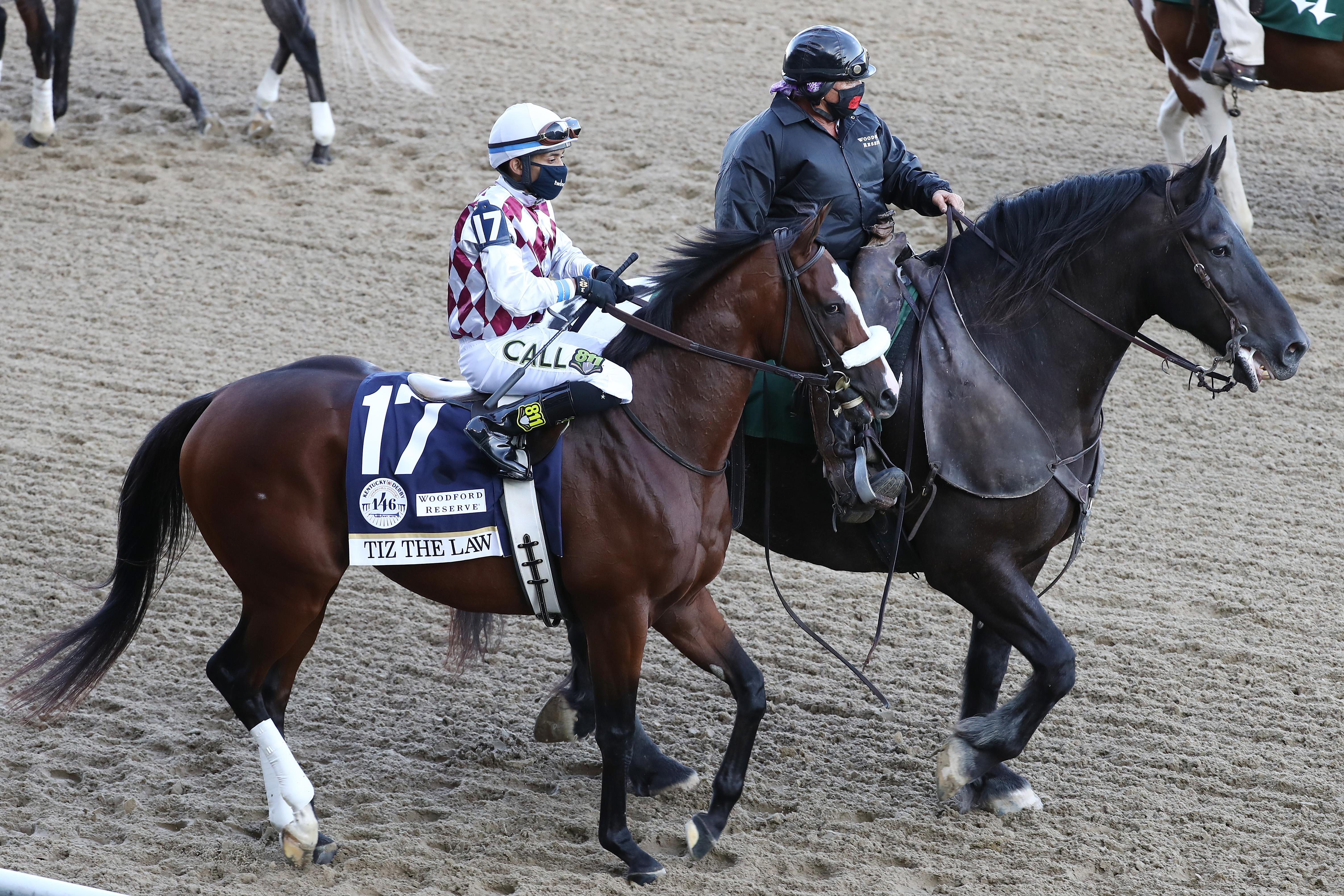 Tiz法律#17,骑骑士曼尼佛朗哥在肯塔基州9月5日在肯塔基州路易斯维尔的第146次在丘吉尔·德比队的第146次奔跑的第146次奔跑时骑行。