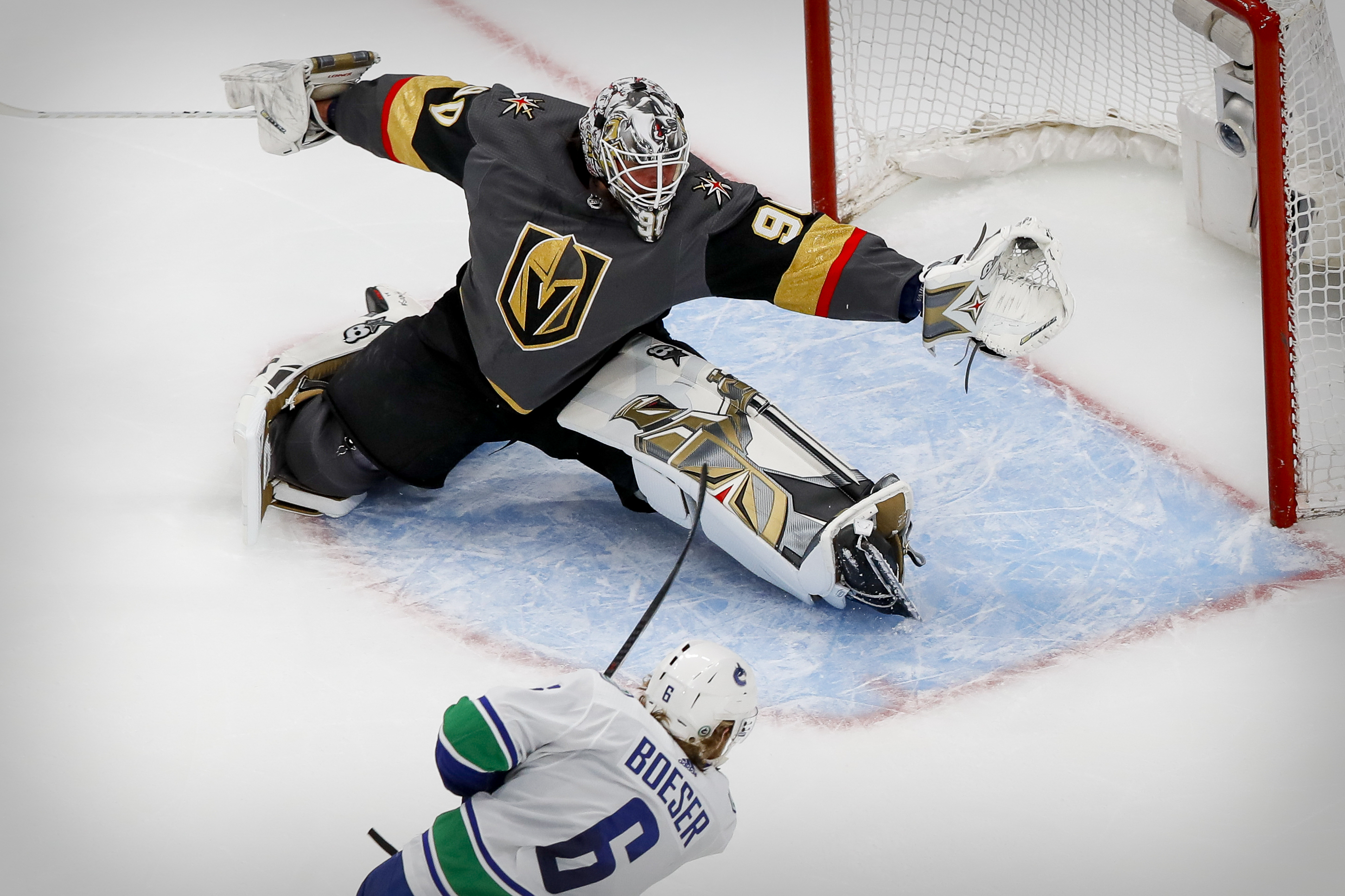 NHL: Stanley Cup Playoffs-Vancouver Canucks at Vegas Golden Knights