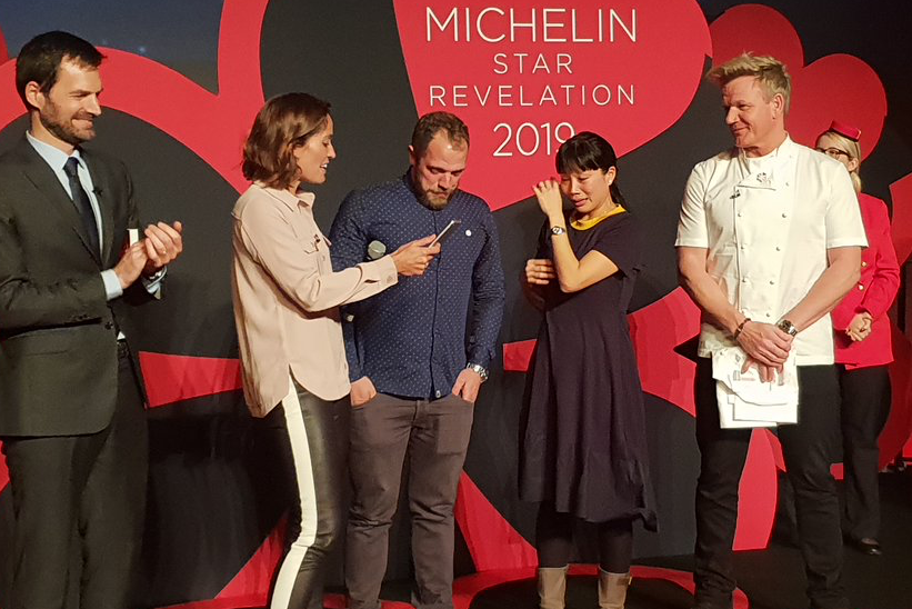 Kitchen Table by Sandia Chang and James Knappett won two Michelin stars at Michelin Guide UK's 2019 announcement yesterday