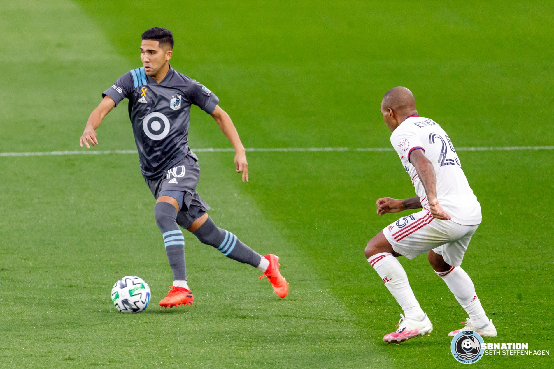 September 6, 2020 - Saint Paul, Minnesota, United States - Minnesota United midfielder Emanuel Reynoso (10) dribbles the ball during the match against Real Salt Lake at Allianz Field.