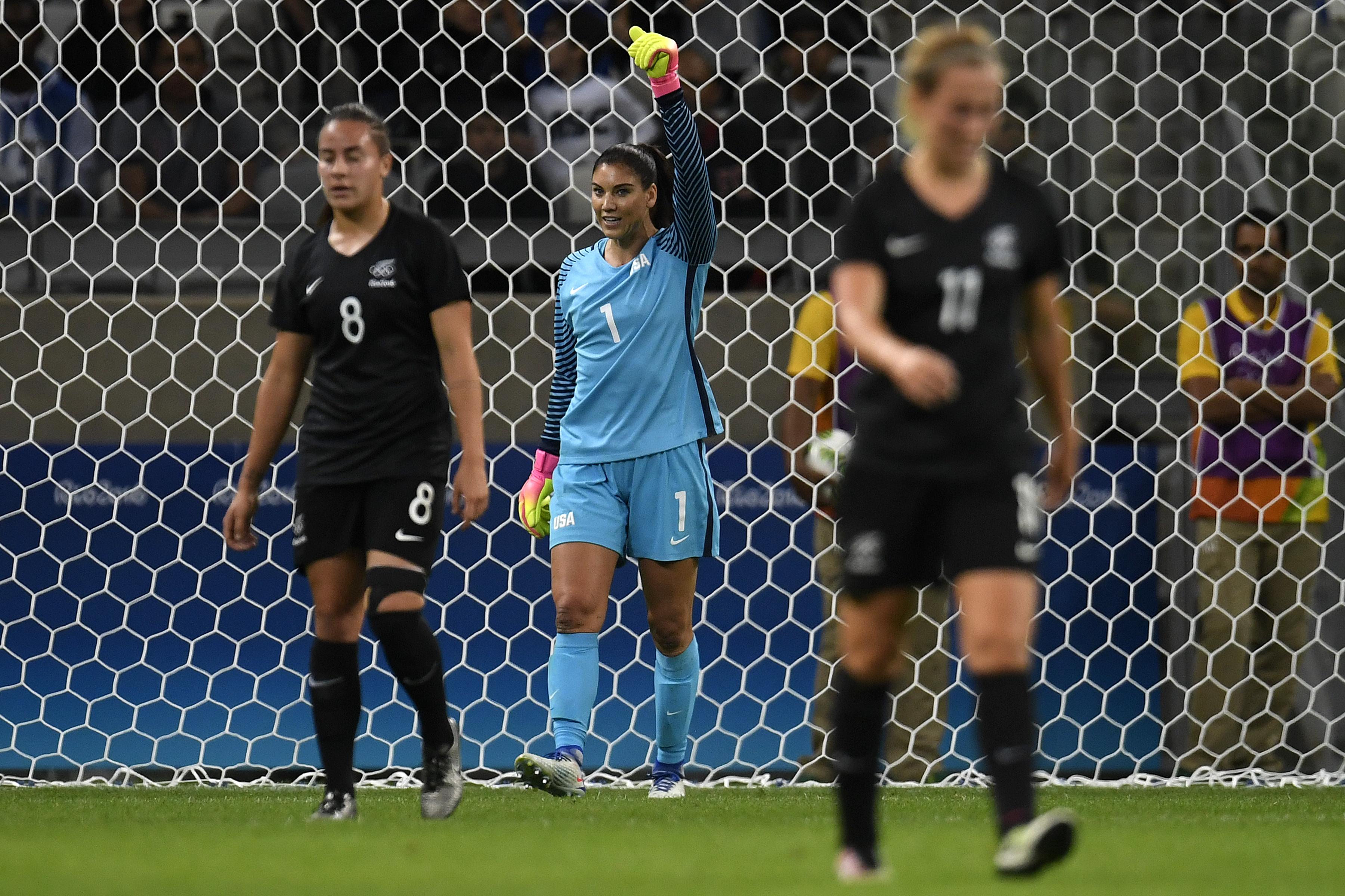 里约2016年奥运会,美国。vs新西兰,女子足球
