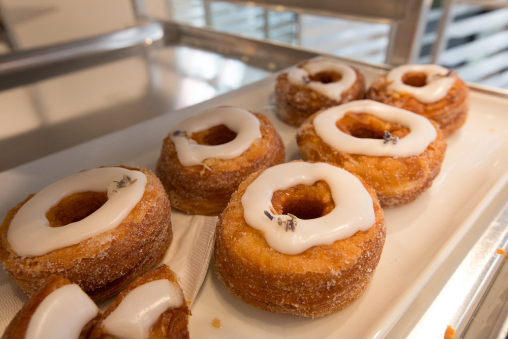 A tray of golden Cronuts, the famed pastry, at the ready.