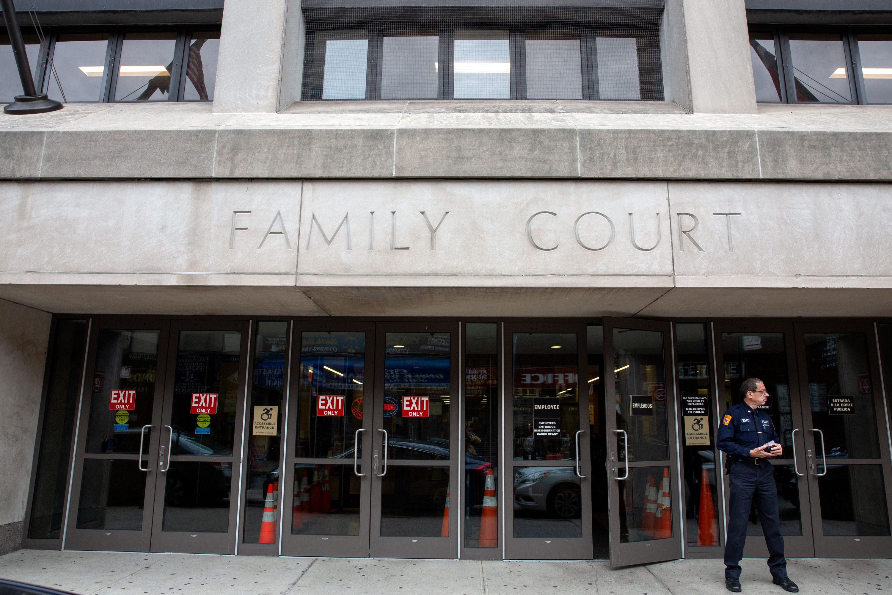Bronx Family Court on Sheridan Avenue, Oct. 8, 2019. Observers set out to chronicle the changes that 'Raise the Age' has brought to youth courts.
