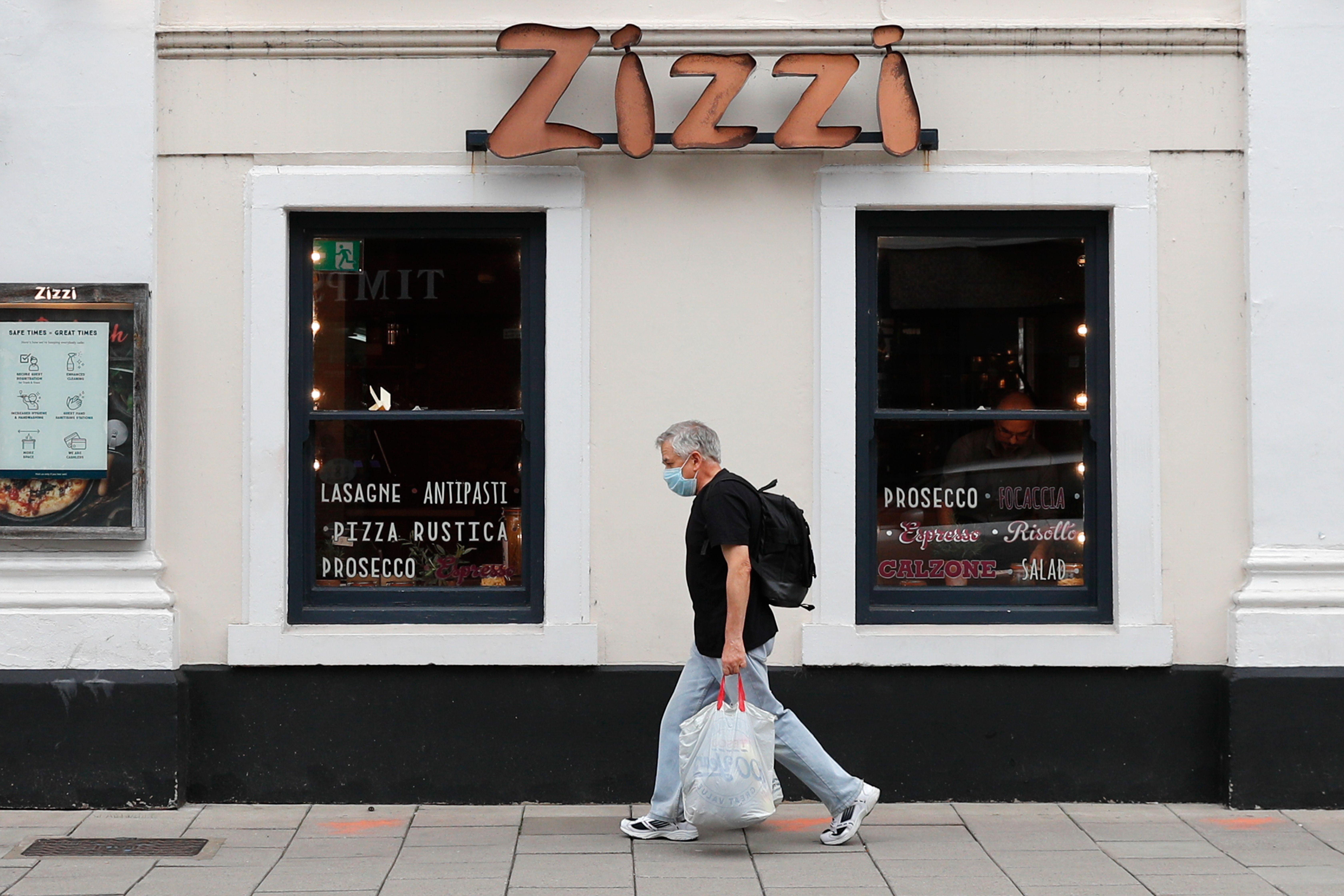 Zizzi restaurant in Salisbury, as it prepares to launch frozen pizzas in supermarket Sainsbury's
