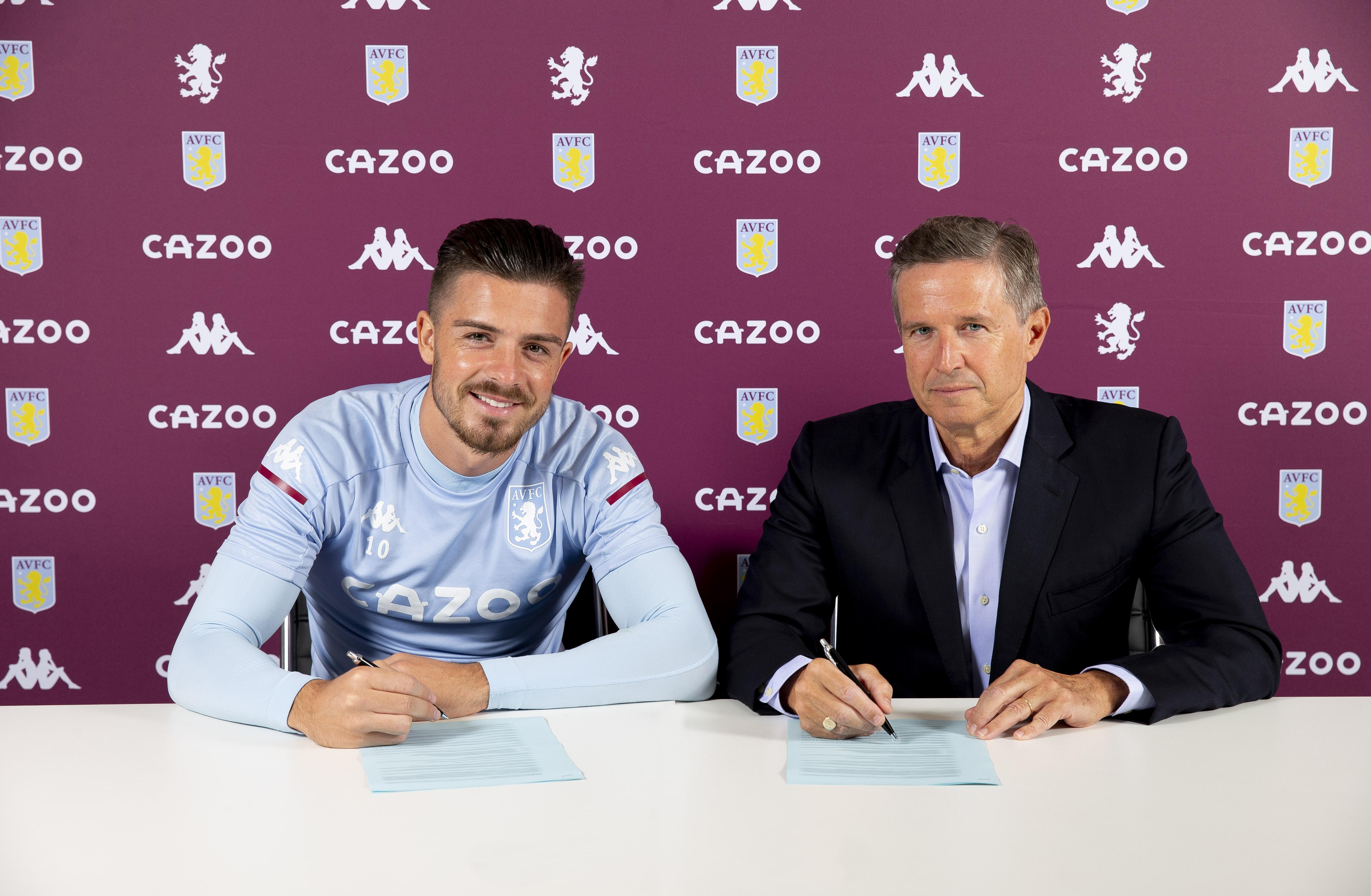Jack Grealish Signs a New Contract at Aston Villa