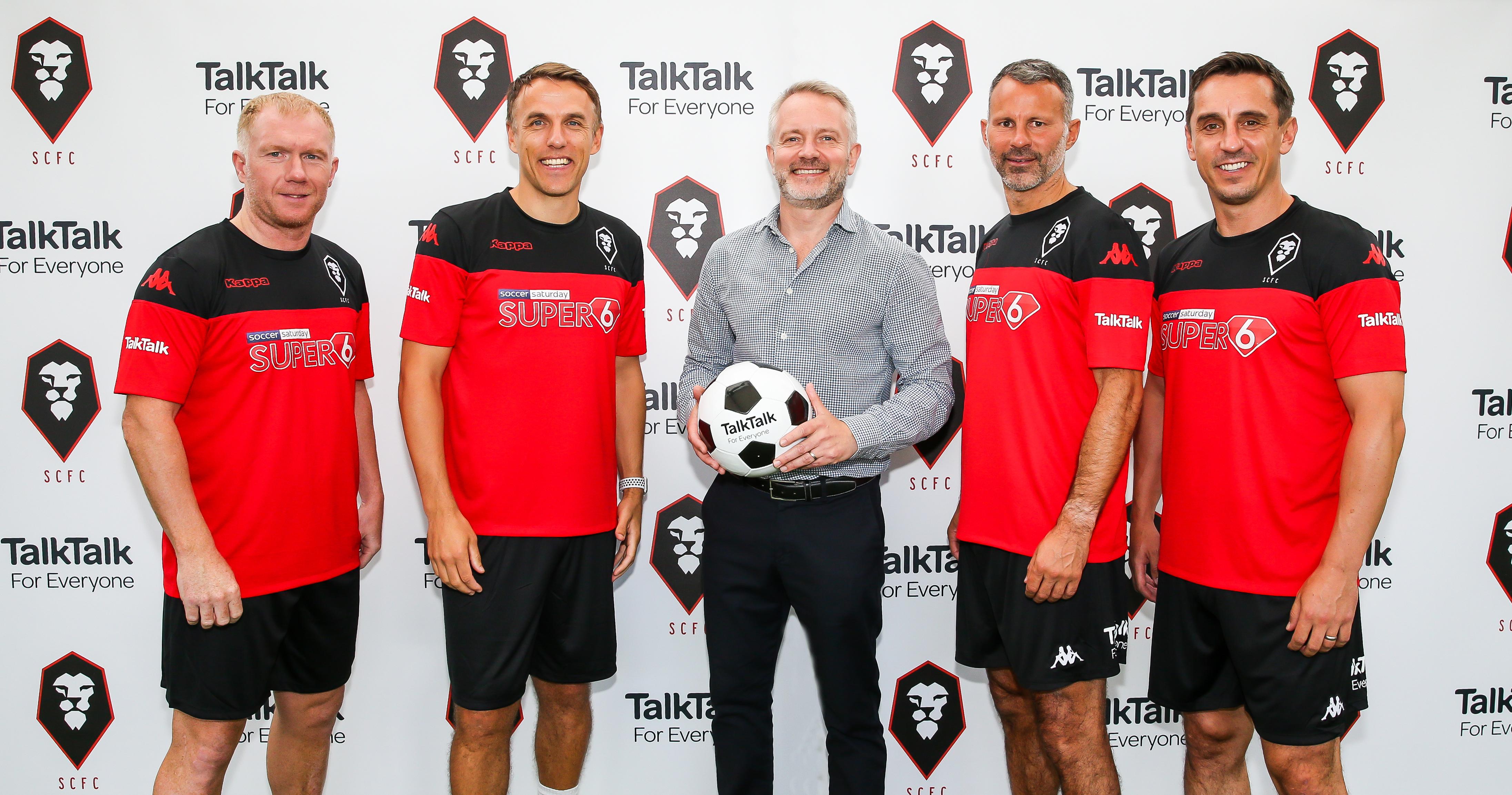 TalkTalk Celebrates Sponsorship of Salford City FC with Class of '92 Match