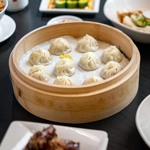 A basket of xiao long bao