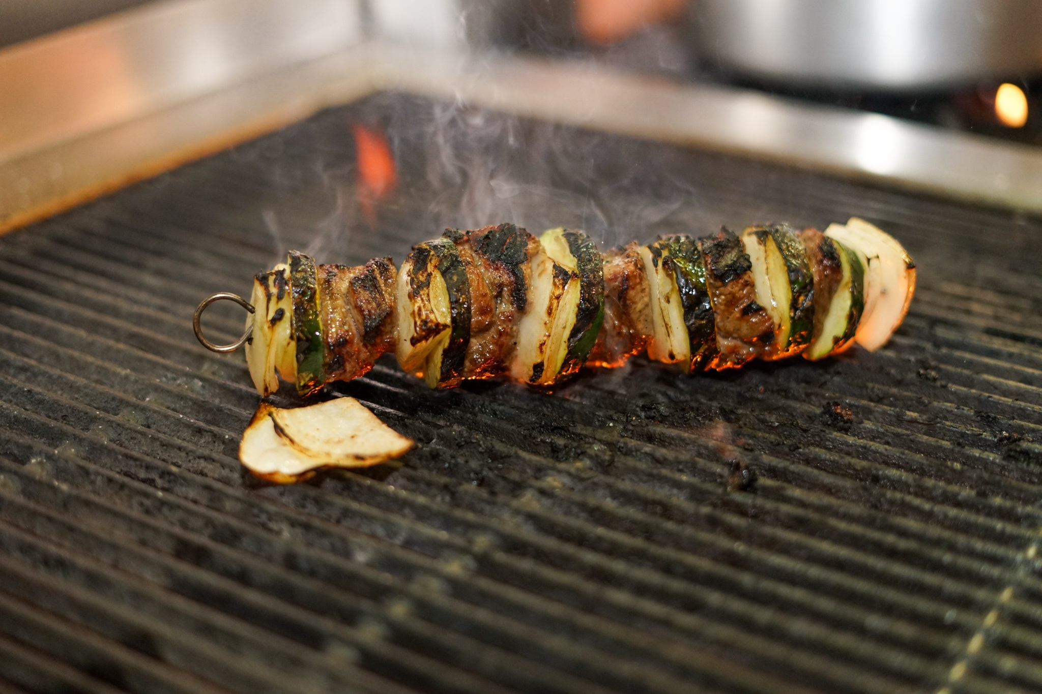 Skewer on the grill at Ludobab