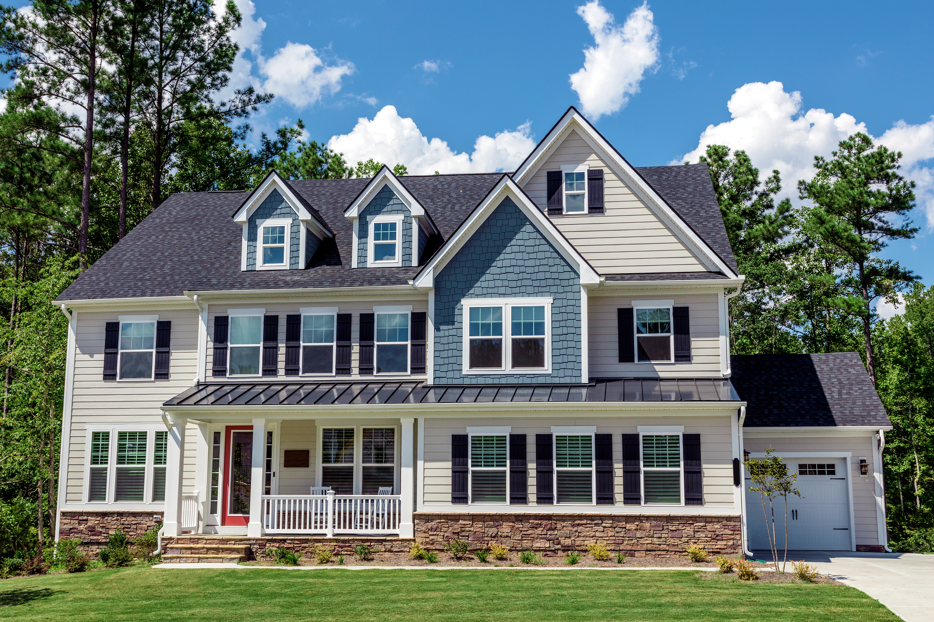 A beautiful house colonial American style in North Carolina.