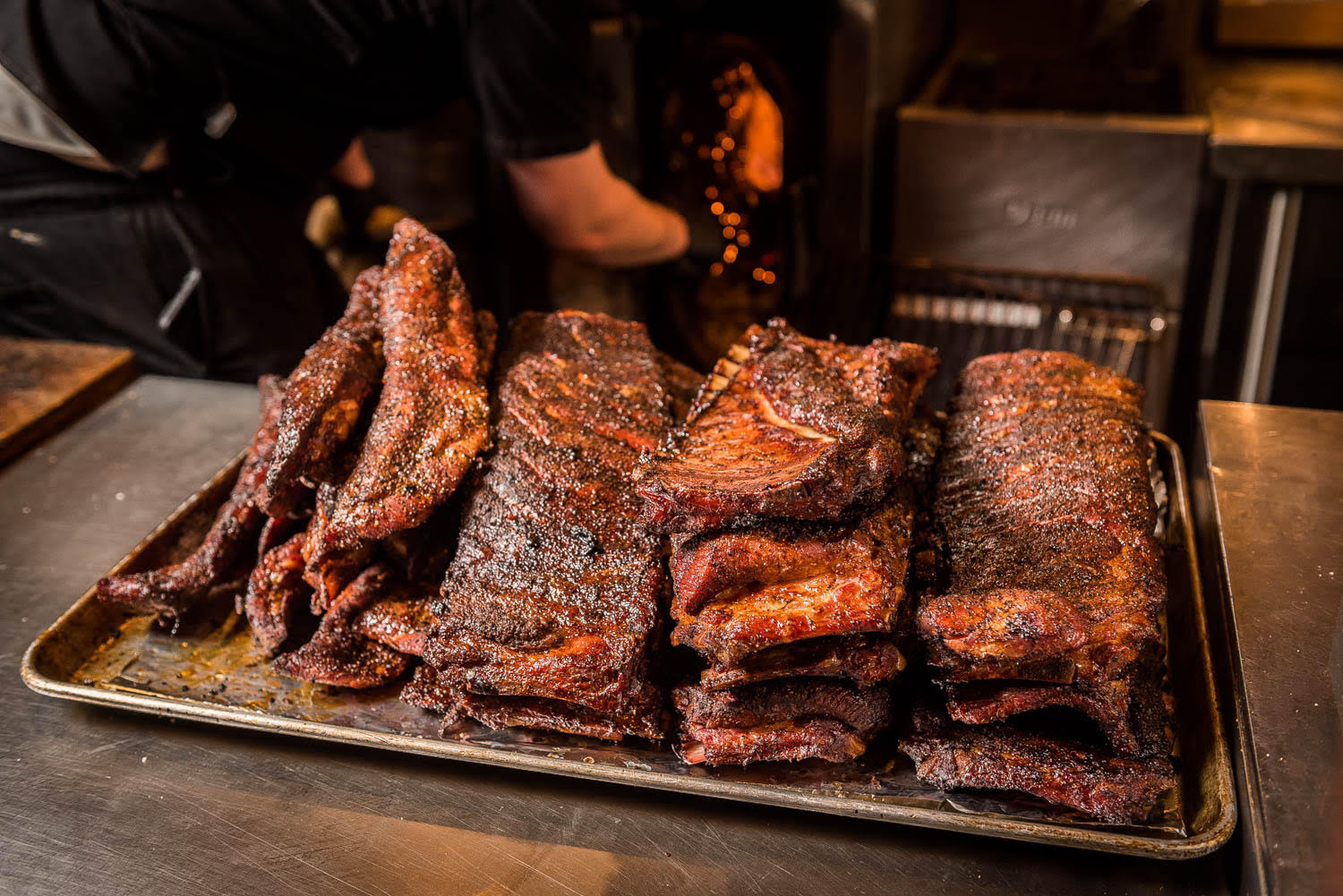 A pile of spare ribs from Federalist Pig