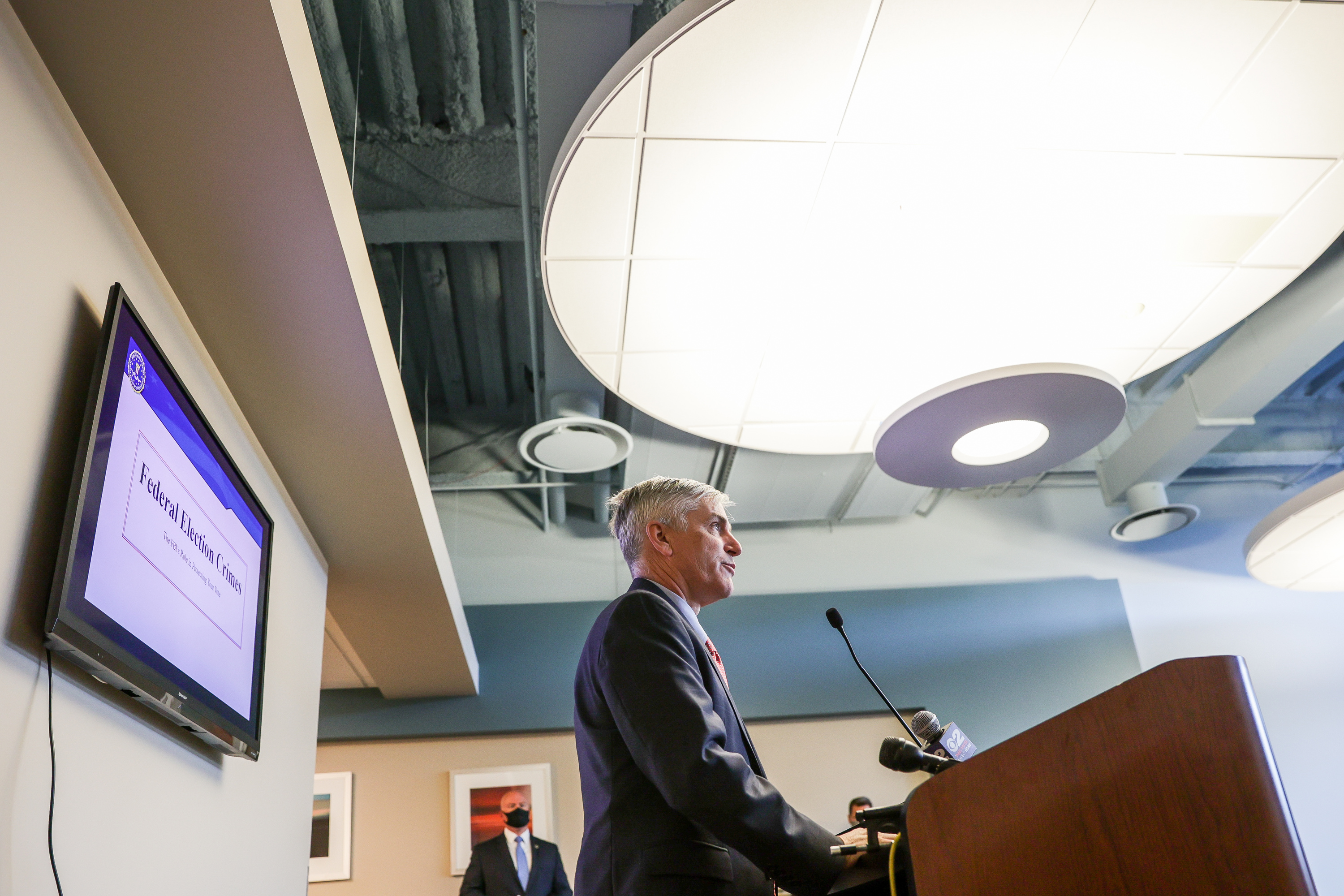 Special Agent in Charge Paul Haertel speaks at a press conference detailing's the FBI's role in election security at the FBI's field office in Salt Lake City on Thursday, Sept. 17, 2020.