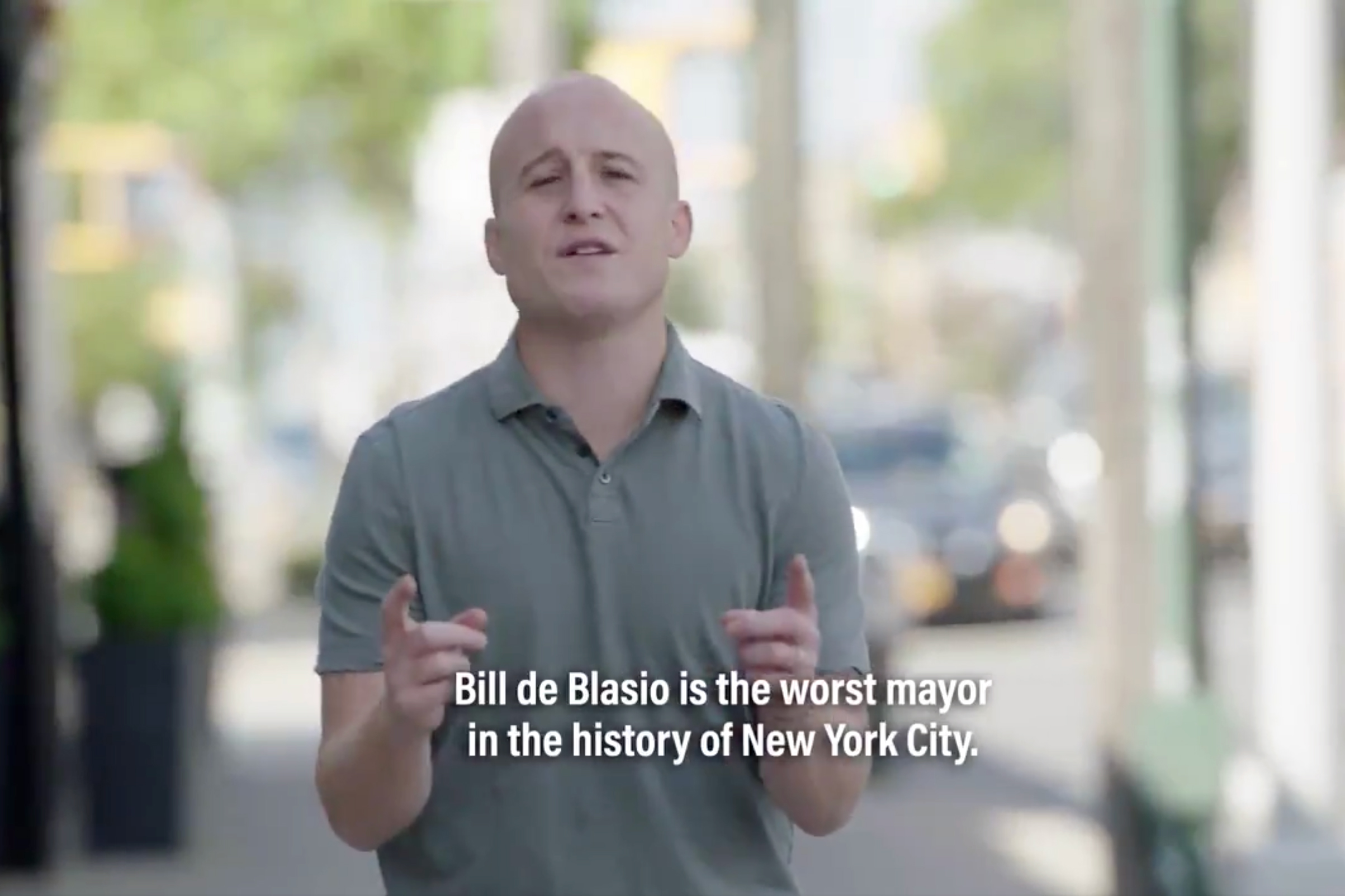 Congressional Rep. Max Rose (D-NY) released a reelection ad denouncing Mayor Bill de Blasio.