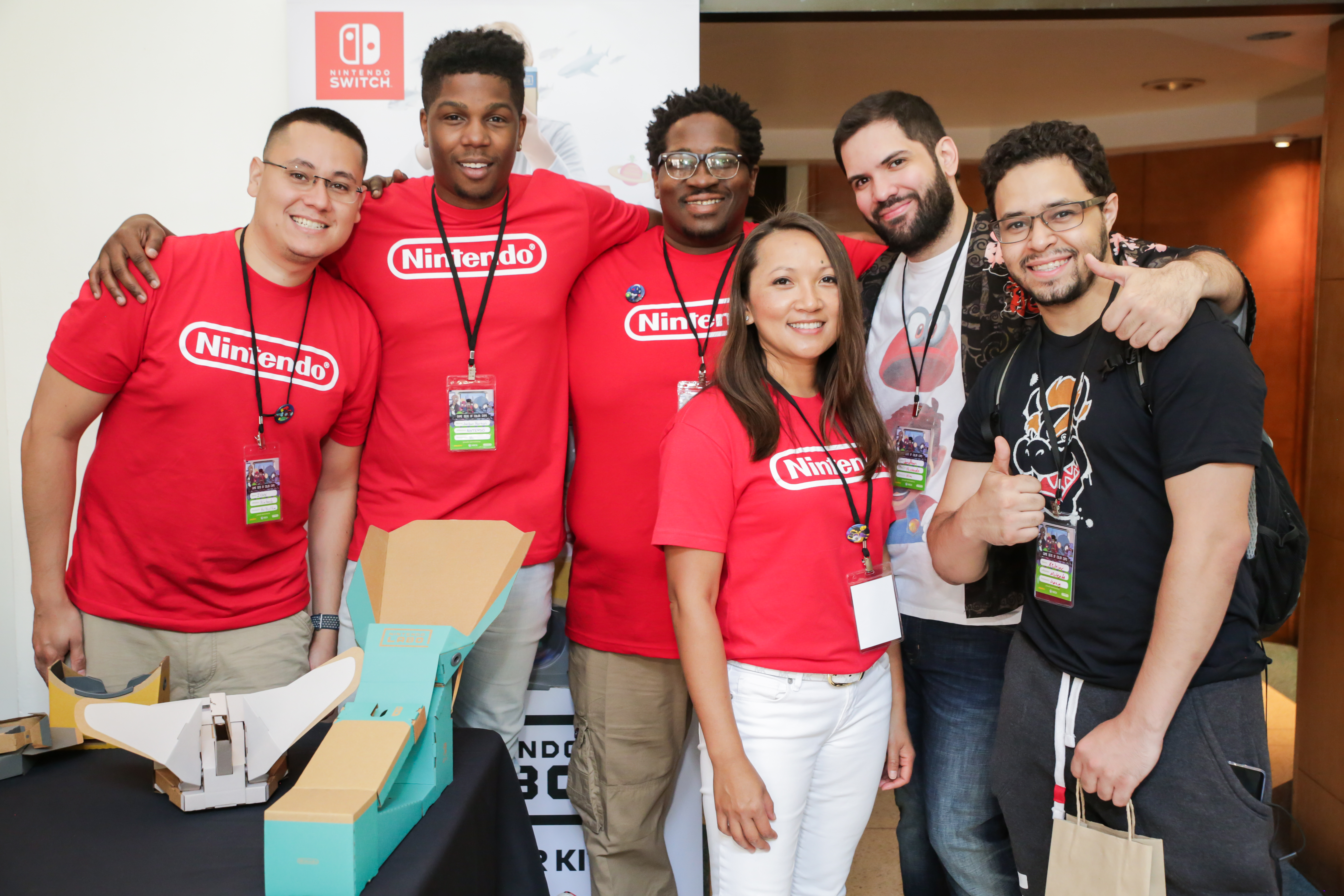 a group of six Game Devs of Color attendees