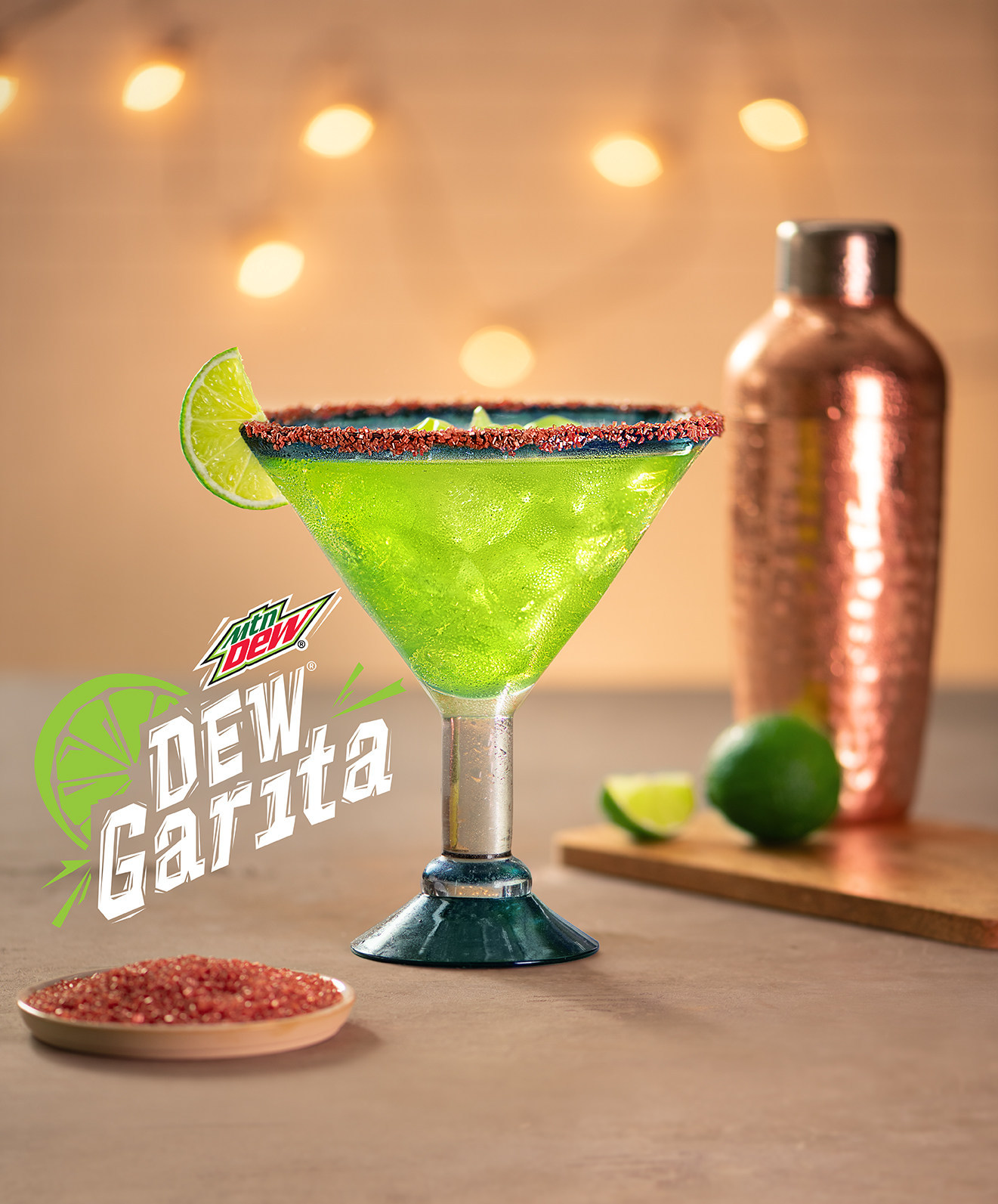 """The new """"Dew Garita"""" cocktail has the look of the soft drink and includes the citrus-flavored Mountain Dew soda, tequila and a """"few other special ingredients."""""""