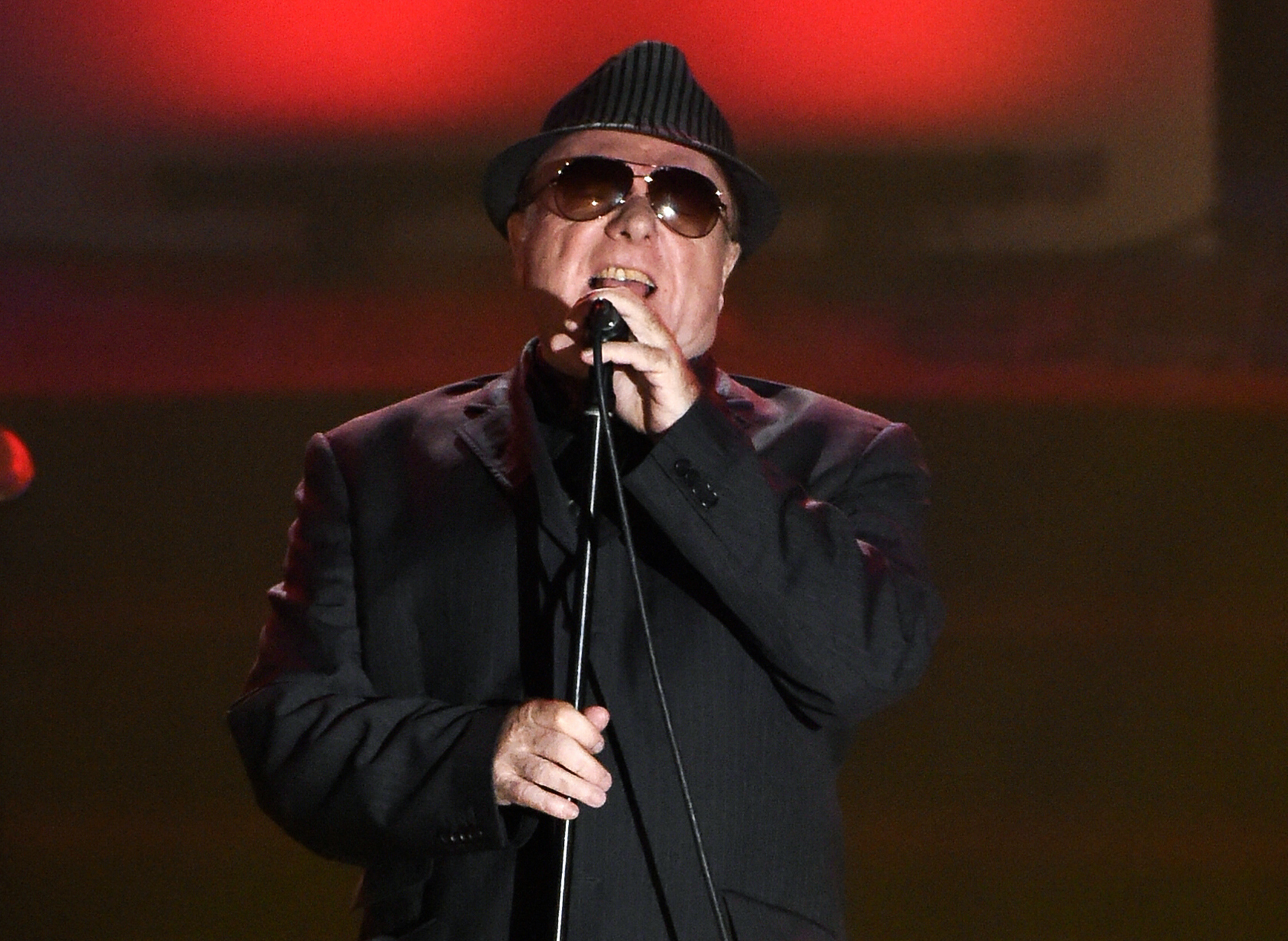 In this June 18, 2015 file photo, Van Morrison performs at the 46th annual Songwriters Hall of Fame Induction and Awards Gala in New York.