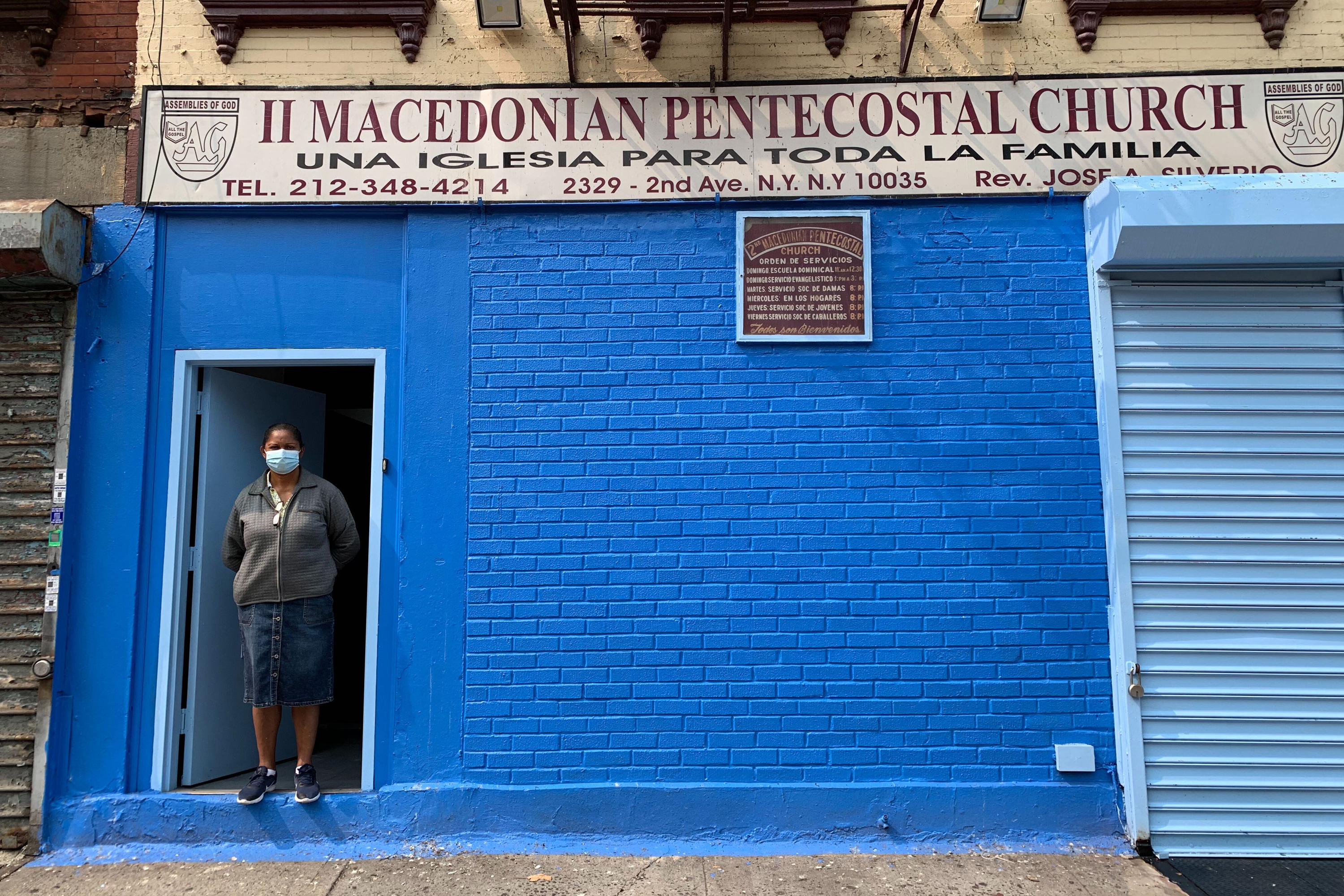 """""""This is our home. But we know we'll eventually be replaced by the subway, said Claribel Rivera, an official at II Macedonian Pentecostal Church on Second Avenue."""