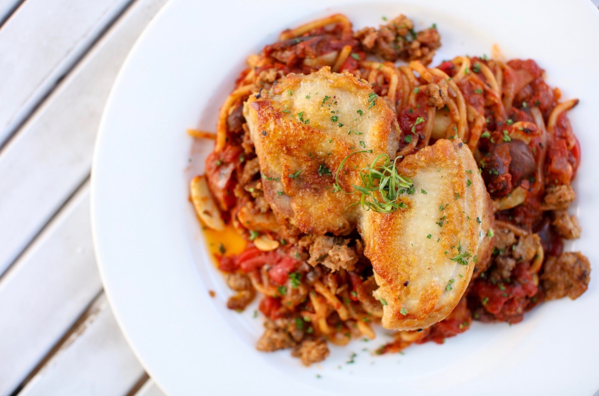 The chicken cacciatore from Juliet