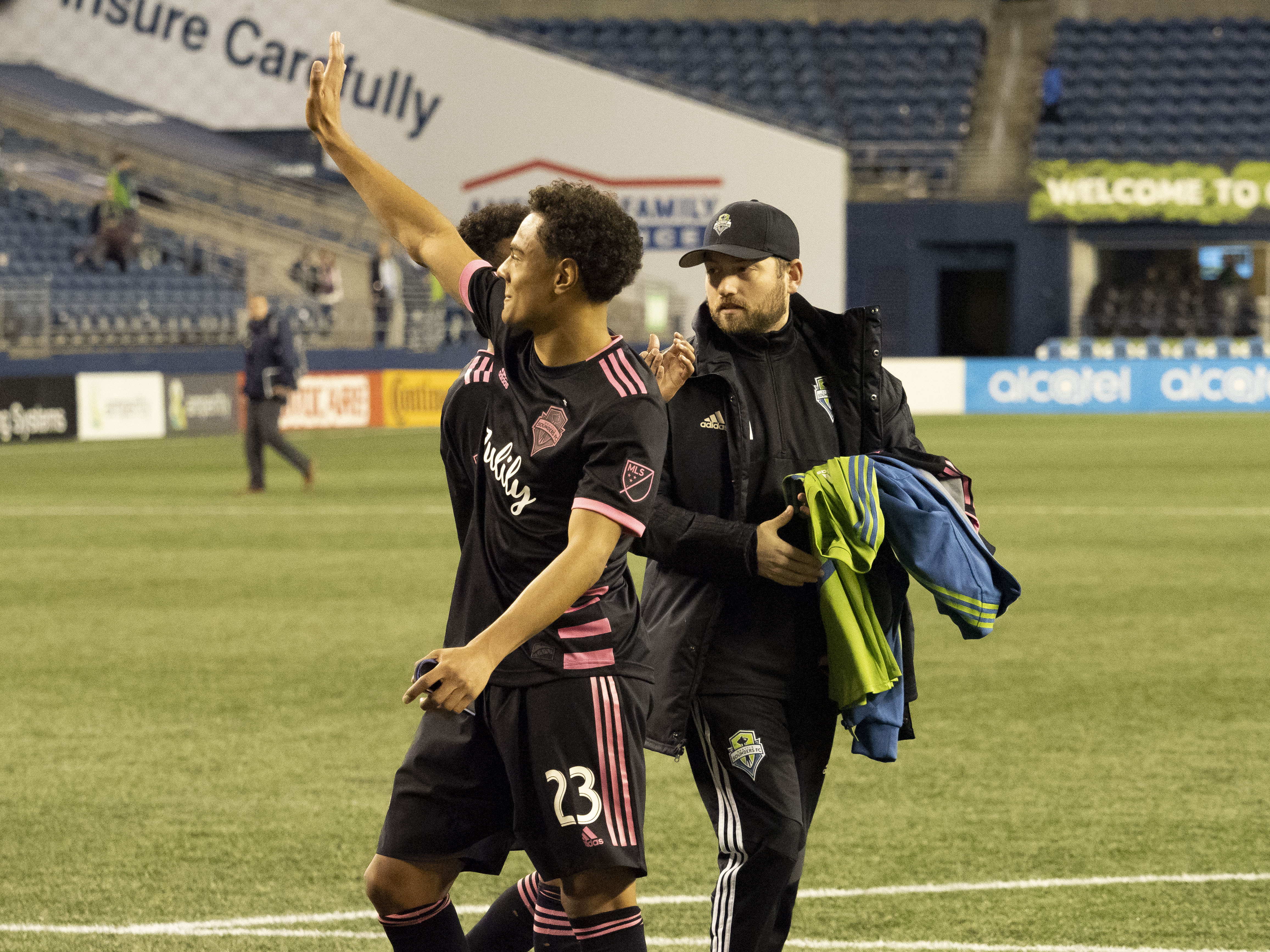 SOCCER: APR 24 MLS - San Jose Earthquakes at Seattle Sounders FC