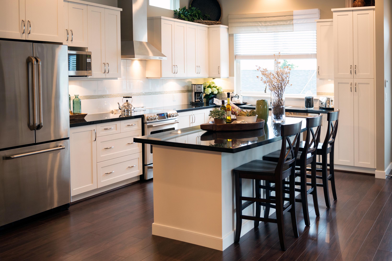 Modern kitchen with island.
