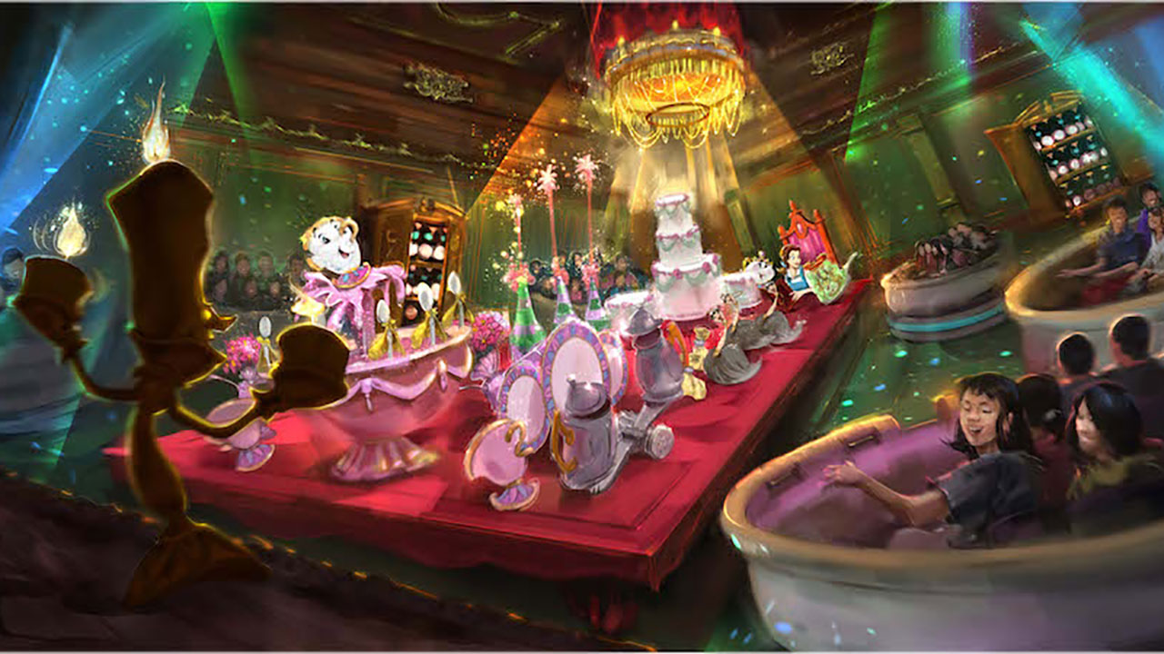 """A look at the new Enchanted Tale of """"Beauty and the Beast"""" attraction coming toTokyo Disneyland."""