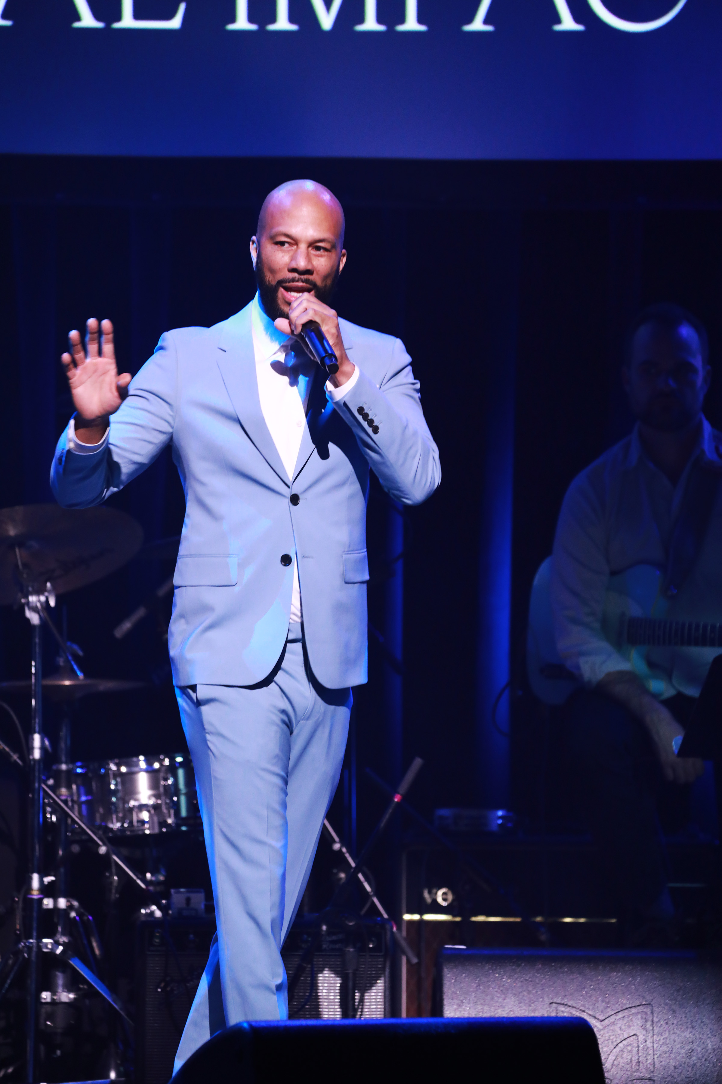 Common performs onstage at the Lena Horne Prize Event Honoring Solange Knowles in February in New York City.